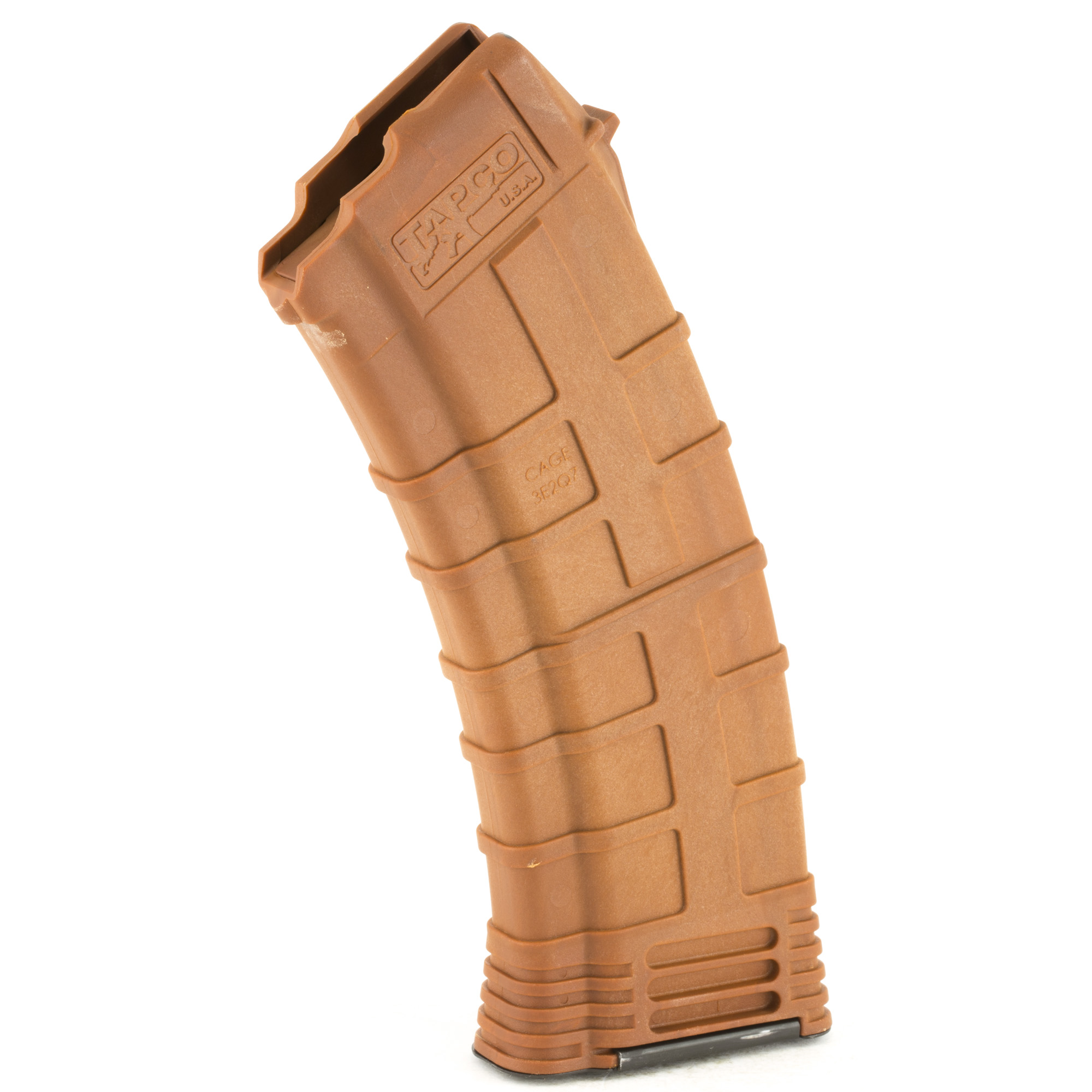 "The best two words to describe Tapco's AK 30rd magazine: ""rugged"" and ""reliable."" The reinforced composite material prevents corrosion while the heavy duty spring and anti-tilt follower ensure that every round will feed perfectly. Fits the AK-74 using 5.45x39mm ammunition. When your Kalashnikov needs a magazine that can handle a beating"" no questions asked"" the Tapco 30rd AK Magazine is the only logical choice."