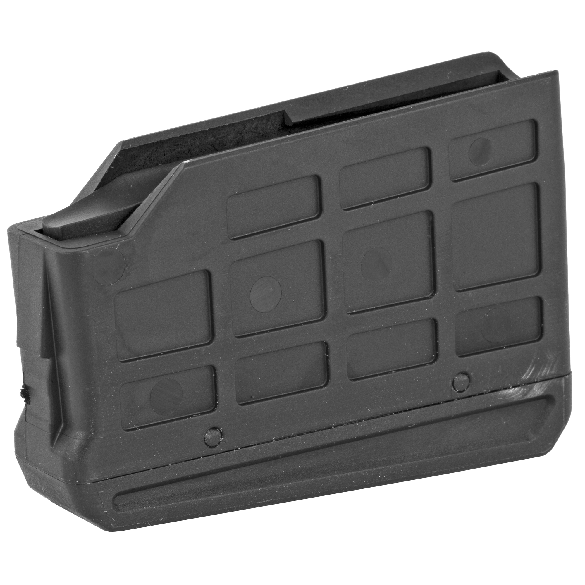 """The XPR's detachable box magazine is constructed of a light yet rugged polymer and securely latches at both the front and rear for added security and to endure feeding reliability. The magazine is a slick and slim single stack design that feeds cartridges in a straight line right into the chamber. Nothing could be more straight-forward. The XPR's magazine capacity is three cartridges in both magnum and standard calibers. Because they are so slim"""" additional loaded XPR magazines can be easily carried in your pocket or pack for a fast reload."""