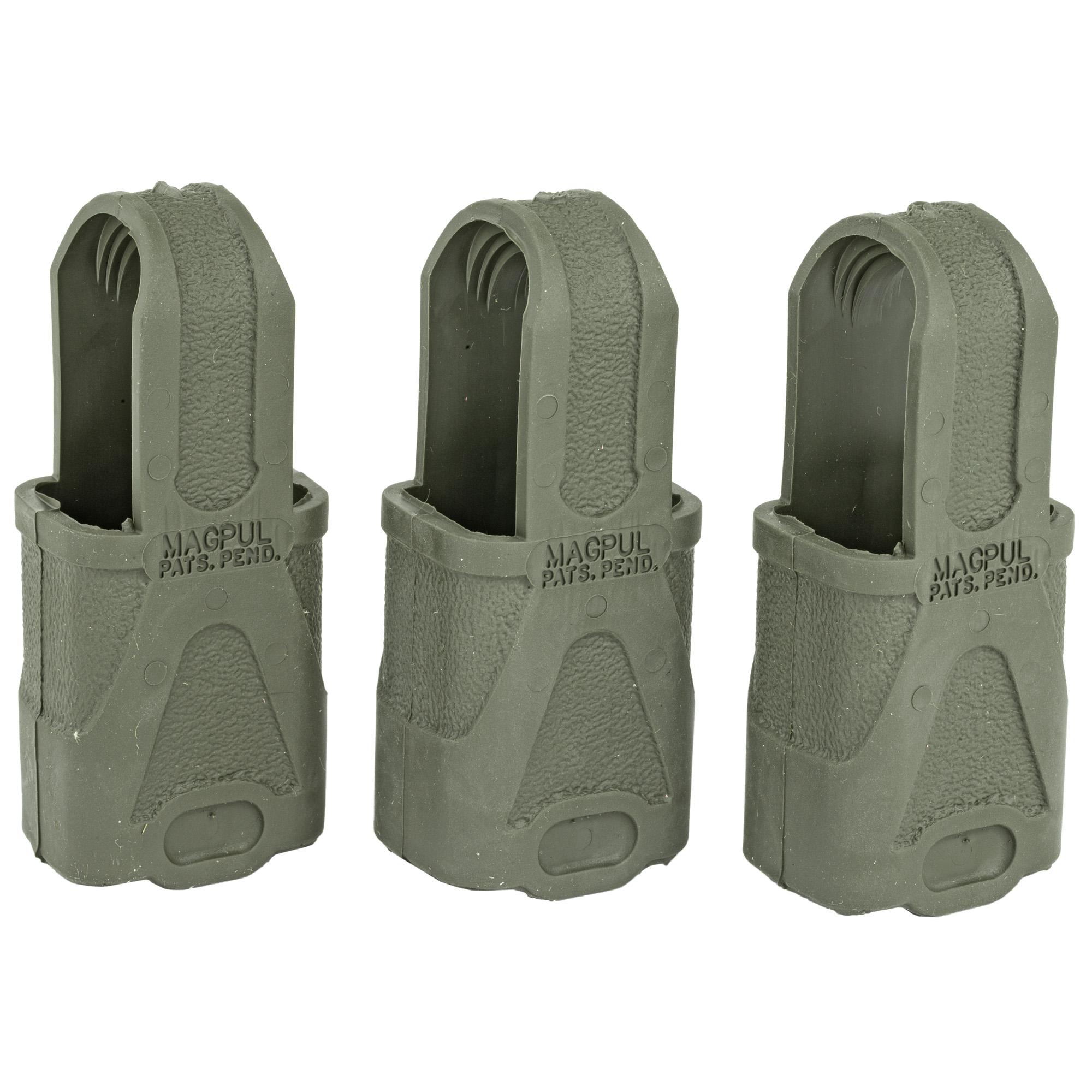 """When installed on the base of a submachine-gun magazine"""" the original Magpul provides improved speed and controllability during high stress"""" tactical magazine changes. Durable synthetic rubber loop with recessed rough gripping surface. Quick and easy installation and removal. Patented design based upon the tried and true para-cord loops and duct-tape tabs currently in use with special warfare units worldwide."""