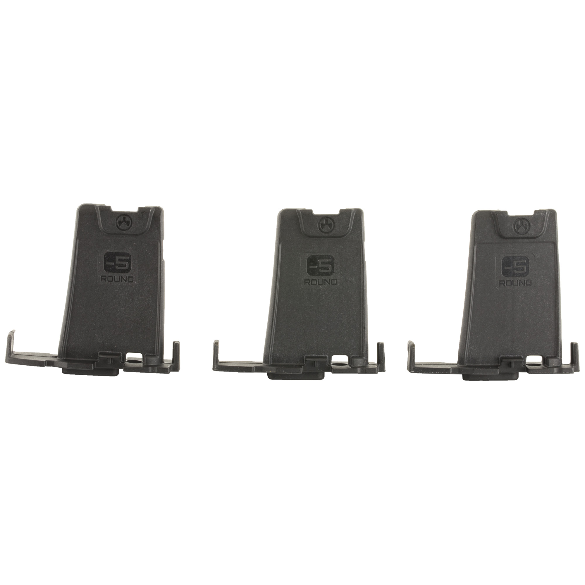 """The PMAG Minus 5 Round Limiter installs in 10"""" 20"""" or 30 round GEN M3 PMAG bodies"""" reducing the magazine capacity by five rounds. Designed for sporting and hunting applications"""" installation of the Limiter is simple"""" tool-less"""" and requires no permanent modification of the magazine body. NOTE: Will NOT make a banned magazine legal! This product is intended for TEMPORARY capacity reduction of PMAG AR/M4 GEN M3 magazines. This product does not constitute a permanent capacity reduction. The user is responsible for knowing applicable laws in any jurisdiction that restricts magazines based on capacity or regulates magazine capacity for hunting. Please check all laws and regulations of your state and locality to determine the legality of your host ammunition magazines."""