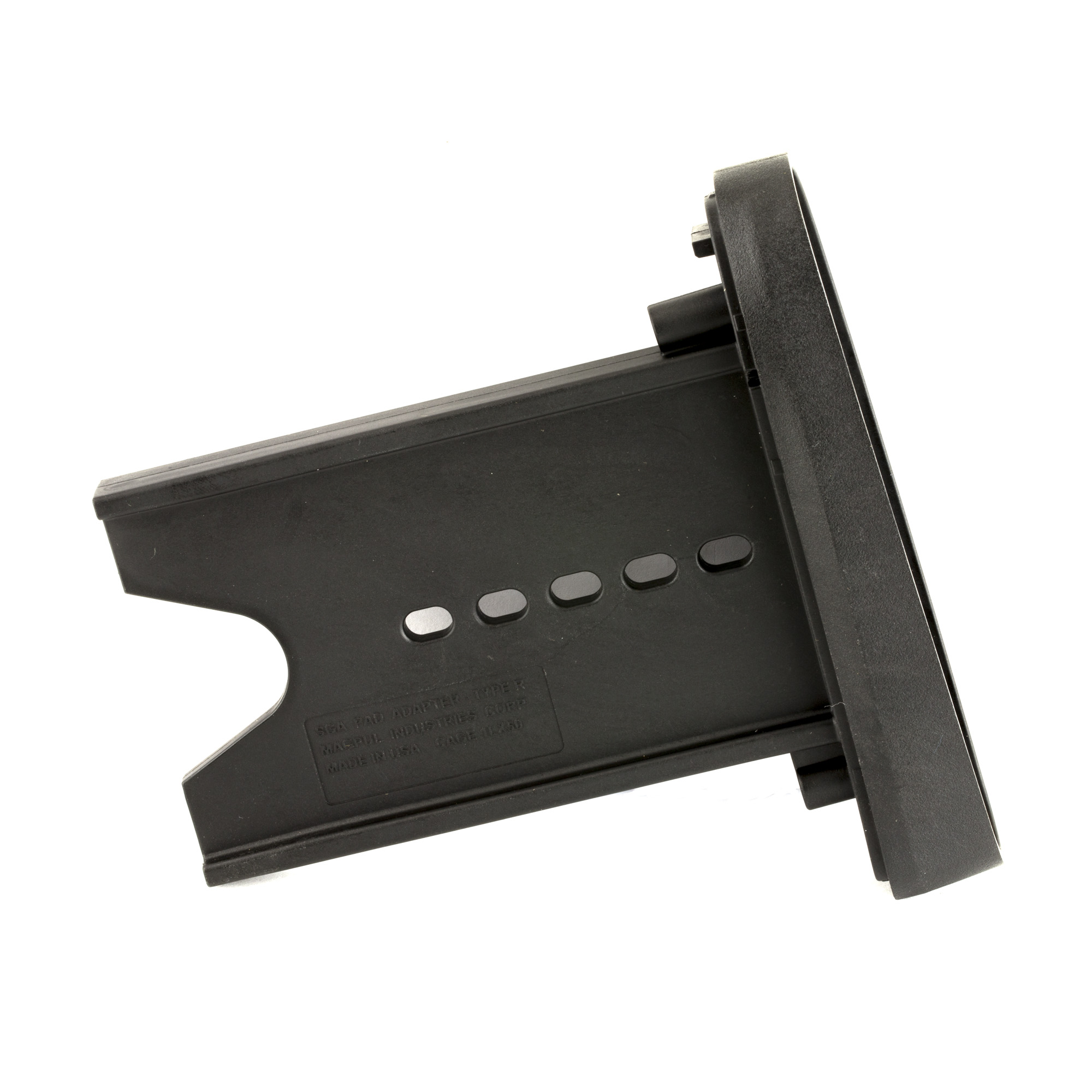 """The Hunter/SGA OEM Butt-Pad Adapter allows the user to replace the factory recoil pad on Magpul SGA Remington or Mossberg Shotgun Stocks as well as the Hunter 700 Stock with a Remington 870 synthetic-pattern butt-pad of their choice (not included). By utilizing the original spacers"""" this adapter retains all the functionality of the Hunter and SGA Stocks while providing for additional butt-pad options."""