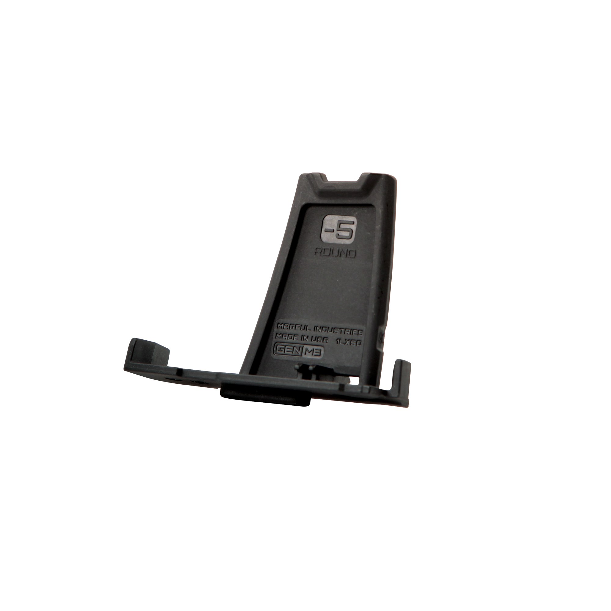 """The PMAG Minus 5 Round Limiter installs in 10"""" 20"""" or 25 round 7.62x51 LR/SR GEN M3 PMAG bodies"""" reducing the magazine capacity by five rounds. Designed for sporting and hunting applications"""" installation of the Limiter is simple"""" tool-less"""" and requires no permanent modification of the magazine body."""