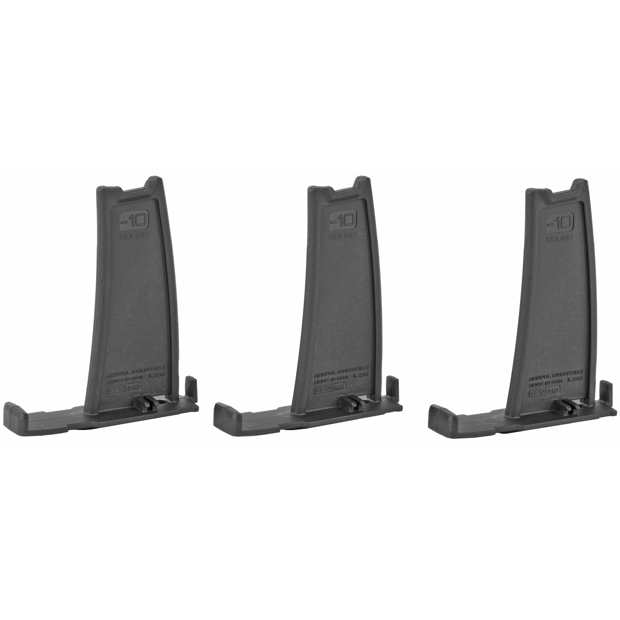 """The PMAG Minus 10 Round Limiter installs in 10"""" 20"""" or 25 round 7.62x51 LR/SR GEN M3 PMAG bodies"""" reducing the magazine capacity by ten rounds. Designed for sporting and hunting applications"""" installation of the Limiter is simple"""" tool-less"""" and requires no permanent modification of the magazine body."""