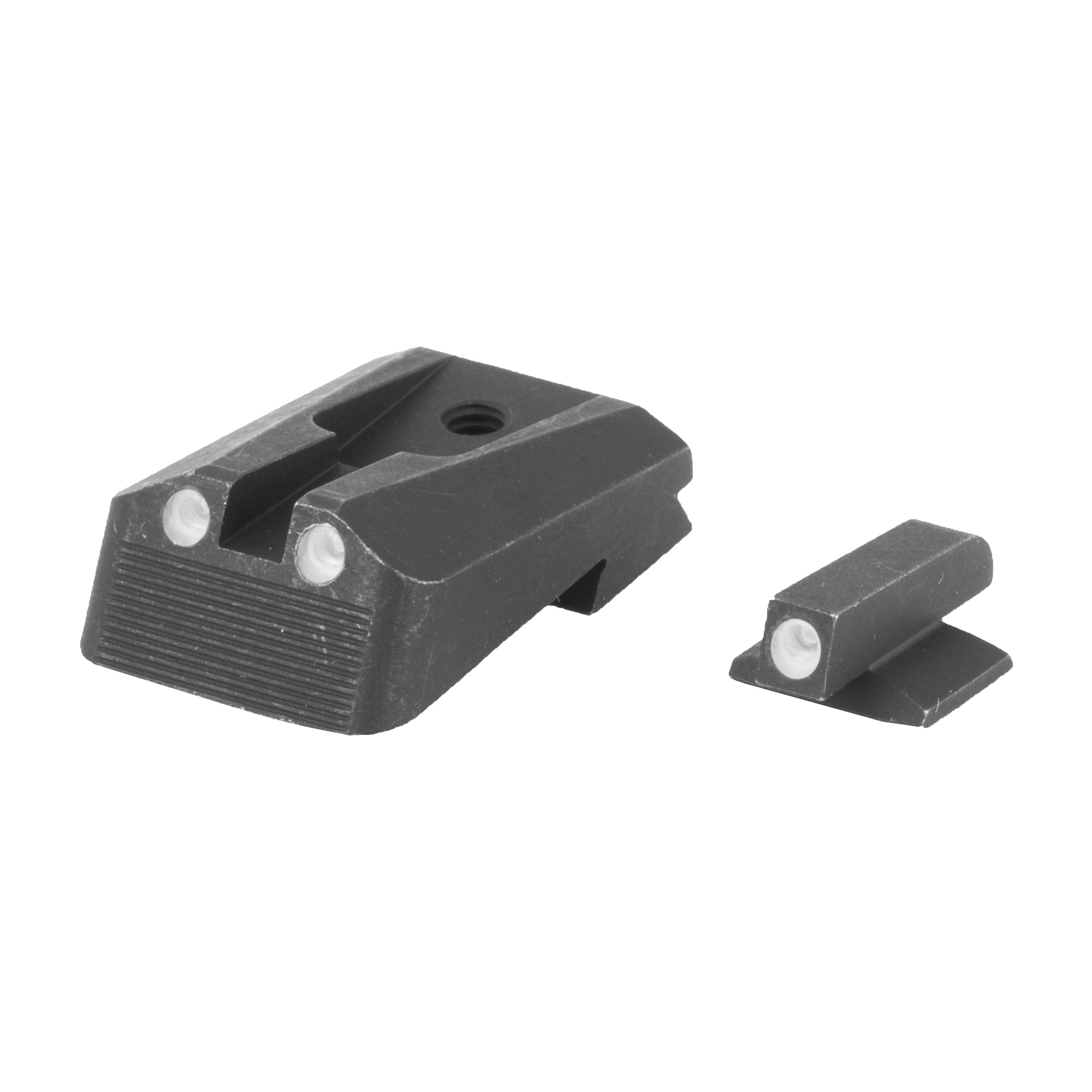 """Meprolight fixed Tactical Wedge Tru-Dot(R) tritium night sight set-Compatible with Custom"""" Pro"""" Compact and Ultra-sized models"""" this set features green tritium night sights."""