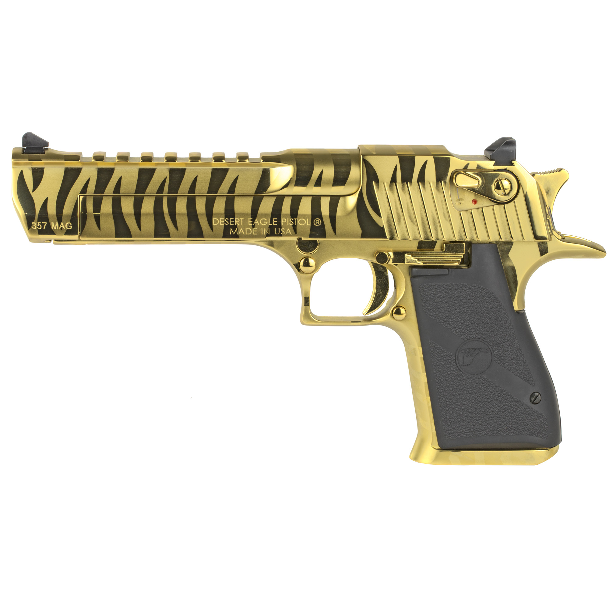 """After 25 years of being accessorized"""" customized and re-imagined in countless movies"""" television shows and video games"""" the Desert Eagle Pistol has emerged as a pop-culture icon. You can customize your Desert Eagle Pistol with a variety of impressive finishes to add your own distinctive twist to this timeless firearm. All models feature a full picatinny style accessory rail on the barrel from the end of the chamber to right behind the front sight and standard ambidextrous safeties. Comes with one 9-round magazine."""