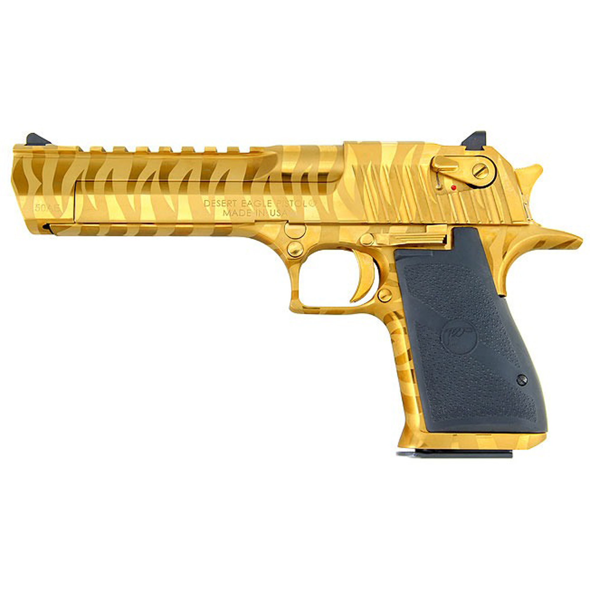 """After 25 years of being accessorized"""" customized and re-imagined in countless movies"""" television shows and video games"""" the Desert Eagle Pistol has emerged as a pop-culture icon. You can customize your Desert Eagle Pistol with a variety of impressive finishes to add your own distinctive twist to this timeless firearm. All models feature a full Weaver style accessory rail on the barrel from the end of the chamber to right behind the front sight and standard ambidextrous safeties. Includes one 7-round magazine."""