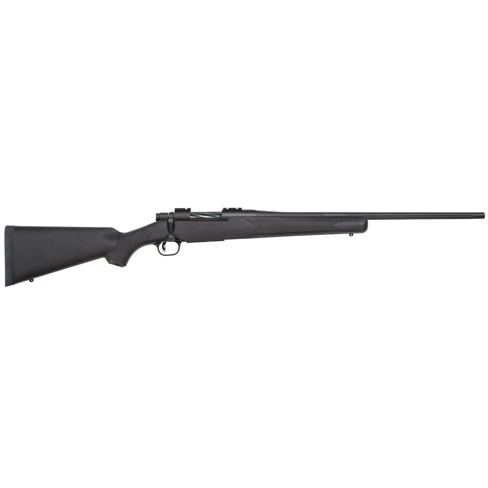 """Available in Walnut"""" Laminate"""" or Synthetic"""" the classic styled Patriot looks great on the gun rack and feels great when shouldered. The Patriot's button-rifled fluted barrels are free-floated and have a recessed crown for maximum accuracy. At 22"""" in length"""" the barrels are long enough to achieve full-velocity from every caliber"""" yet short enough for quick handling in the densest woods. The Patriot's attractive spiral fluted bolts feature an ergonomic bolt angle and knurled bolt handle offering plenty of grip for quick follow-up shots and enhanced shooter comfort. Its box-magazine-fed action makes loading and unloading a snap."""