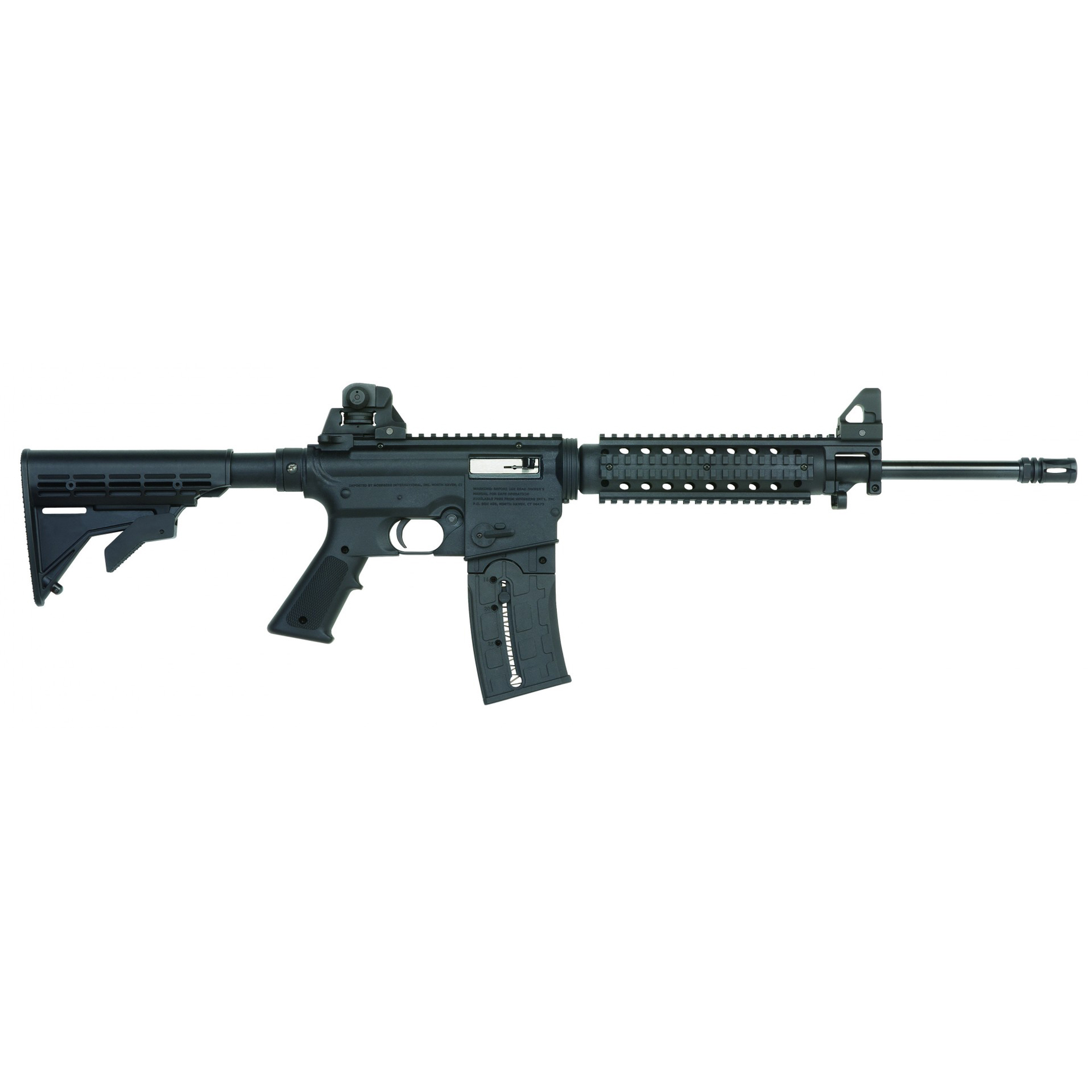 """The look and feel of an AR in a lightweight"""" fun-to-shoot 22LR rimfire. All 715T rifles feature a vented quad-rail forend for use with a multitude of available accessories like lights"""" sights"""" lasers and forend grips."""