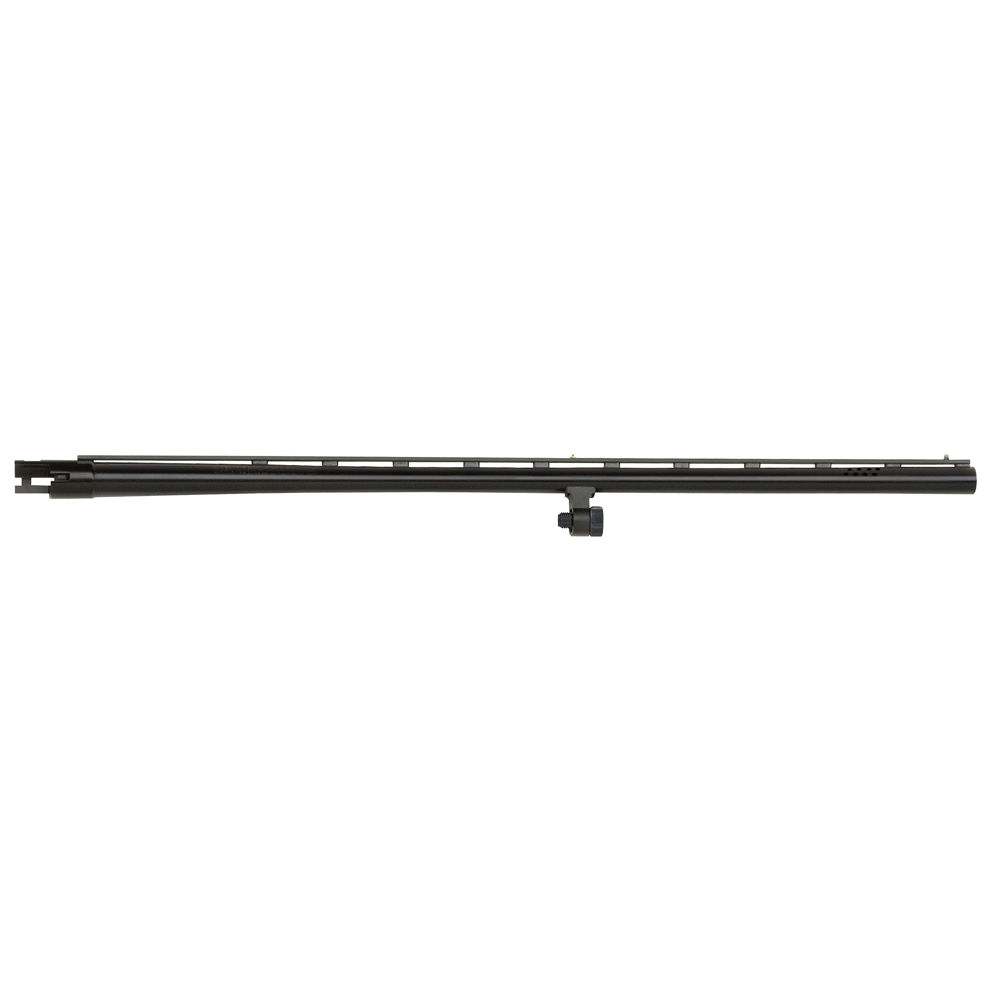 """28"""" All-Purpose barrel with vent rib"""" dual bead sights"""" smoothbore"""" and blued finish. Includes Accu-Choke set (Improved Cylinder"""" Modified"""" Full) and choke tube wrench. Compatible with 12 Gauge Mossberg 500 and Maverick 88 6-shot models."""