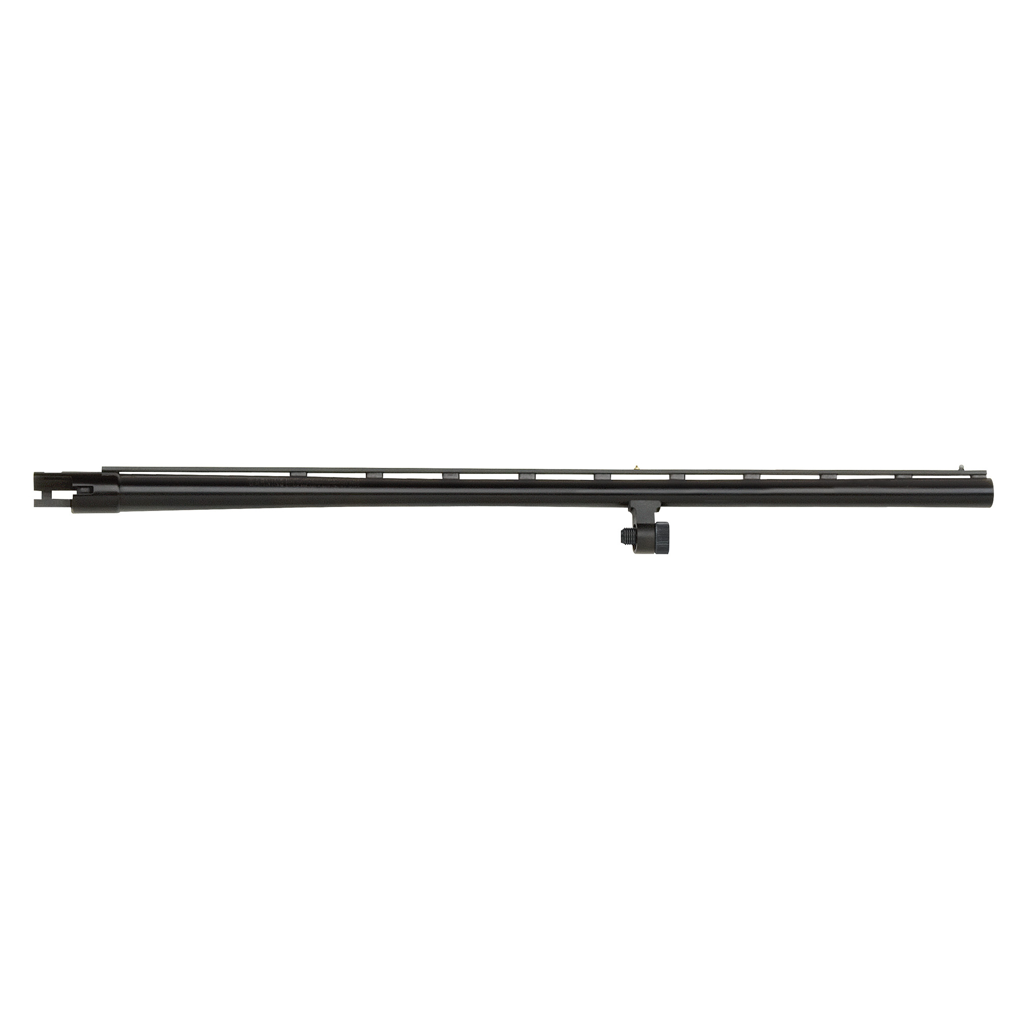 """24"""" All-Purpose barrel with vent rib"""" dual bead sights"""" smoothbore"""" and blued finish. Includes Accu-Choke set (Improved Cylinder"""" Modified"""" Full) and choke tube wrench. Compatible with 12 Gauge Mossberg 500 and Maverick 88 6-shot models."""
