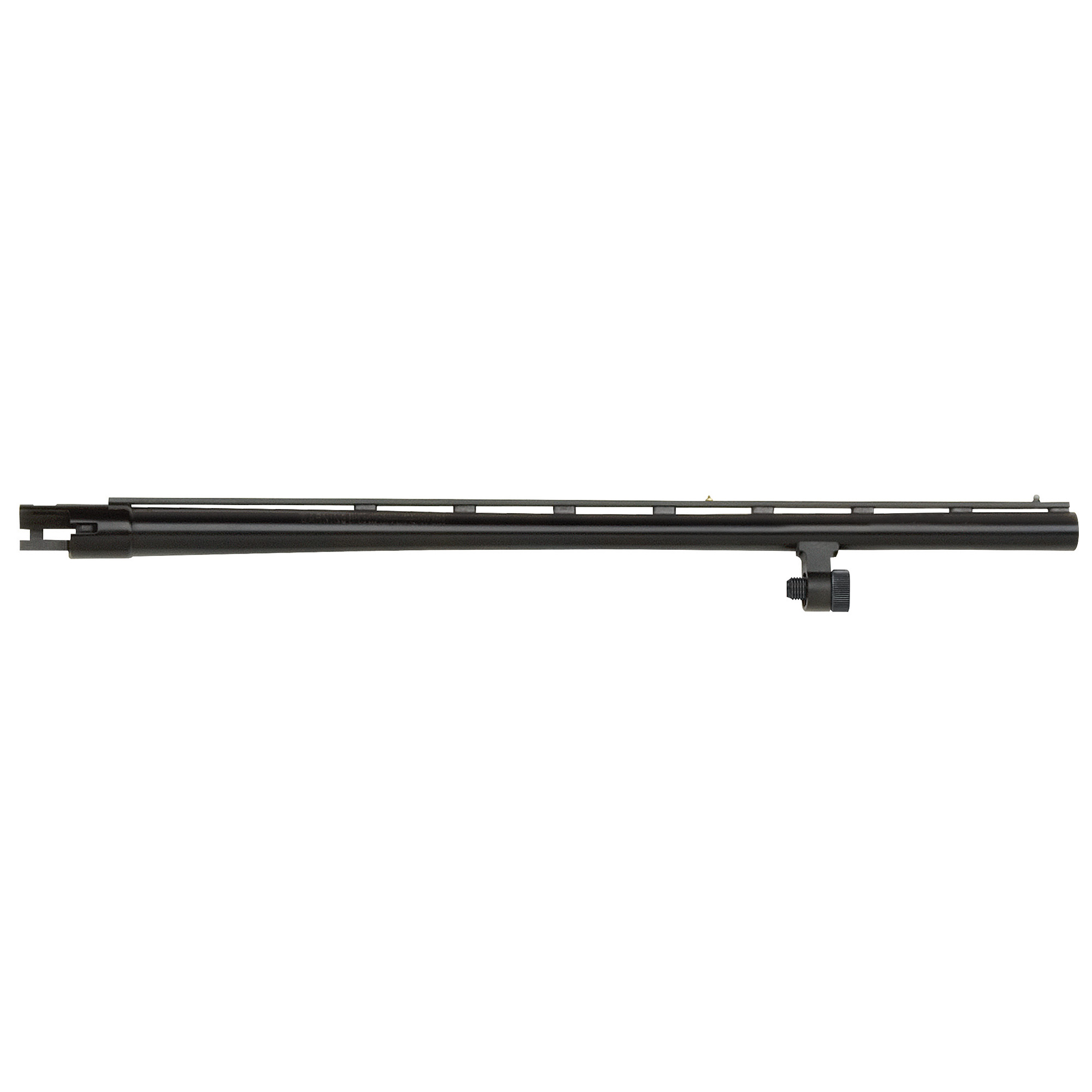 """20"""" All-Purpose barrel with vent rib"""" dual bead sights"""" smoothbore"""" and blued finish. Includes Accu-Choke set (Improved Cylinder"""" Modified"""" Full) and choke tube wrench. Compatible with 12 Gauge Mossberg 500 and Maverick 88 6-shot models."""