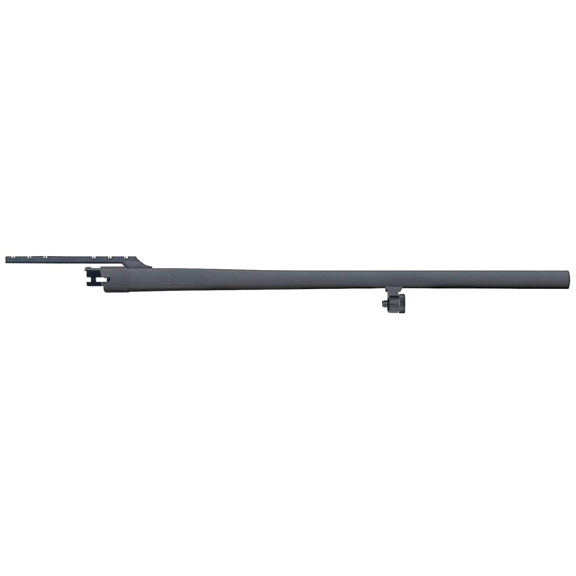 "24"" Slug barrel with cantilever mount"" fully-rifled bore"" and matte blued finish. Compatible with 12 Gauge Mossberg 500 and Maverick 88 6-shot models."