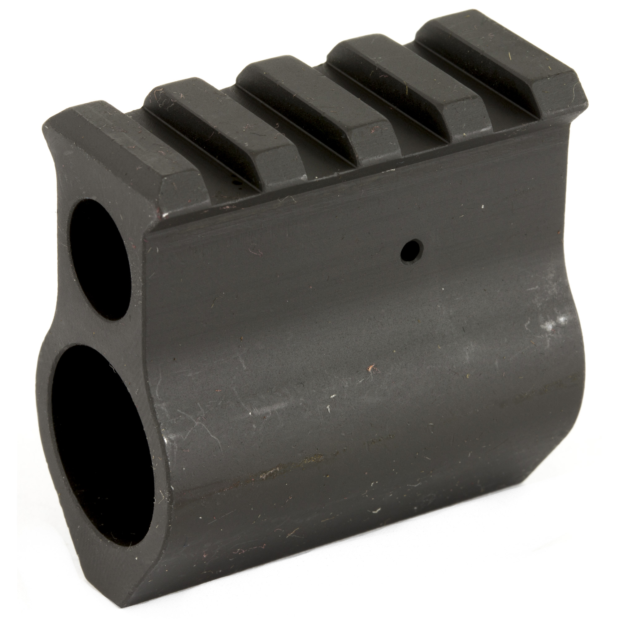 The Midwest Industries railed gas block is machined to same height as A-4 uppers and fits .750 diameter barrels.