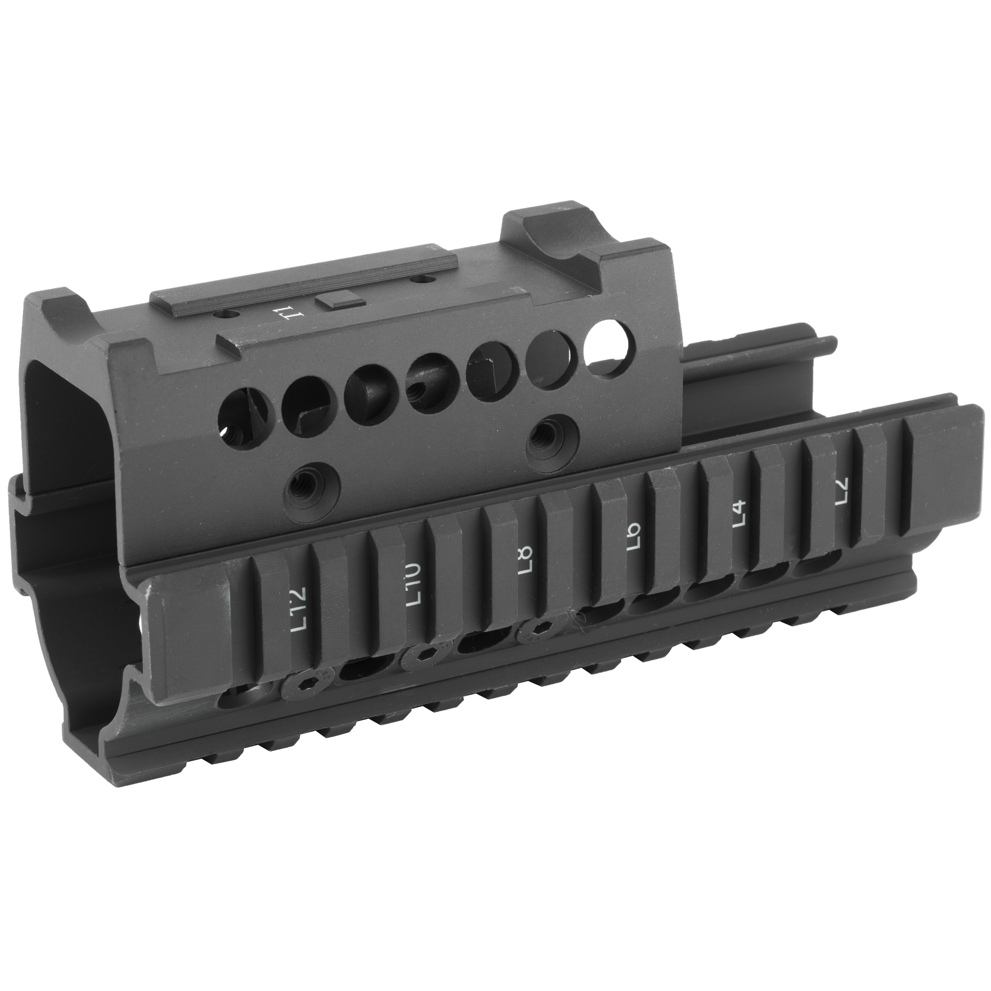"Midwest Industries is a proven leader in the firearm industry. Made in America"" focusing on the small details to make your rifle platform better. The addition of their AK series of handguards to your rifle platform creates the rail space you need to add your accessories and change the feel of your rifle with a new streamline design. This Forearm for AK with Aimpoint T-1 Top cover with T-marked mil-spec 1913 rails installs in minutes using provided wrenches. Fits AK-47 & AK-74 variants. Fits Aimpoint T1 Top cover"" Vortex Sparc Top cover and Primary Arms Top cover. In most cases"" the top cover allows for the use of the red dot and iron sights."