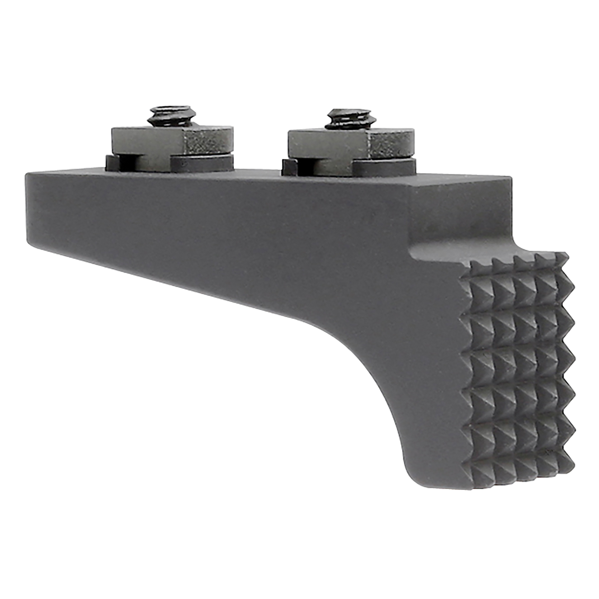 "Midwest Industries is a proven leader in the firearm industry. Made in America"" focusing on the small details to make your rifle platform better. The addition of their M-Lok Barricade Stop will give you the added function of a handstop and barricade stop. It mounts to M-LOK system slots and features teeth that allow user to achieve a solid anchor point tor precise shots."