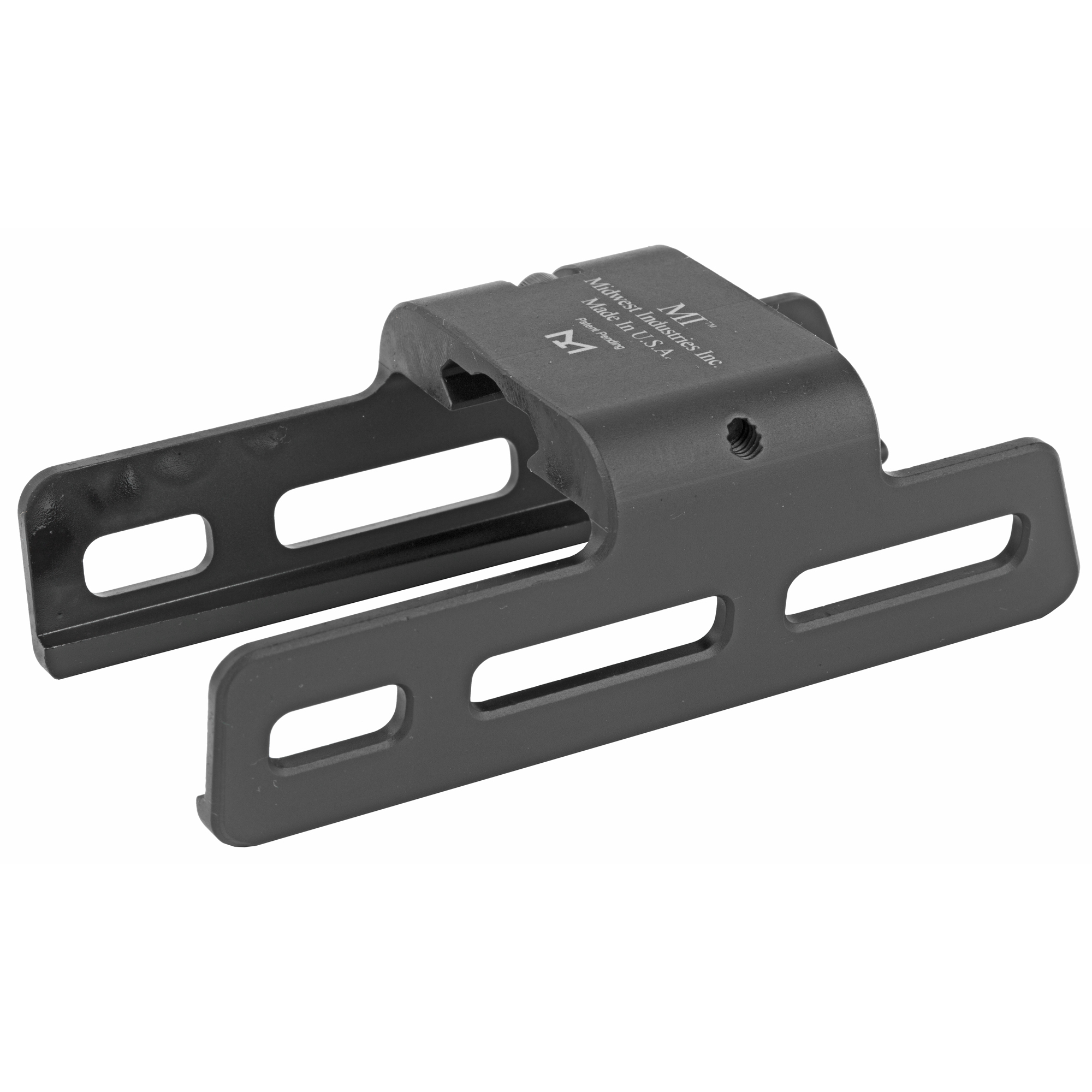 "The PC9 MLOK mount fits the Ruger PC 9mm. It provides 5-total MLOK slots"" 2 1/2 per side. Its one bolt mounting system attaches to the forward 1913 Picatinny rail on a rifle."