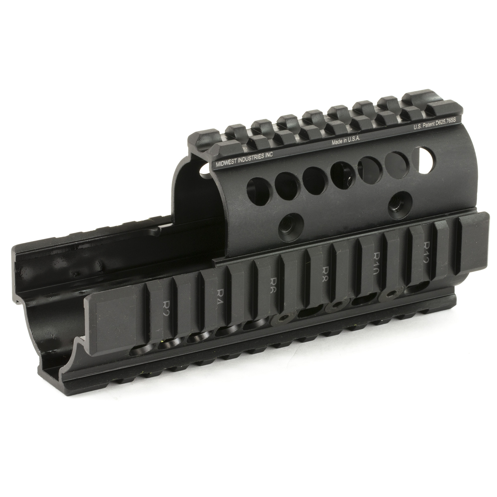 "Midwest Industries is a proven leader in the firearm industry. Made in America"" focusing on the small details to make your rifle platform better. The addition of their PLR16 handguard will allow you to add accessories that you want and to the small compact rifle package. This Kel-Tec PLR16 4-Rail Handguard has high quality T-marked mil-spec 1913 rails for lights"" lasers and optics. Installs in minutes using nothing but the wrenches that come in the kit."