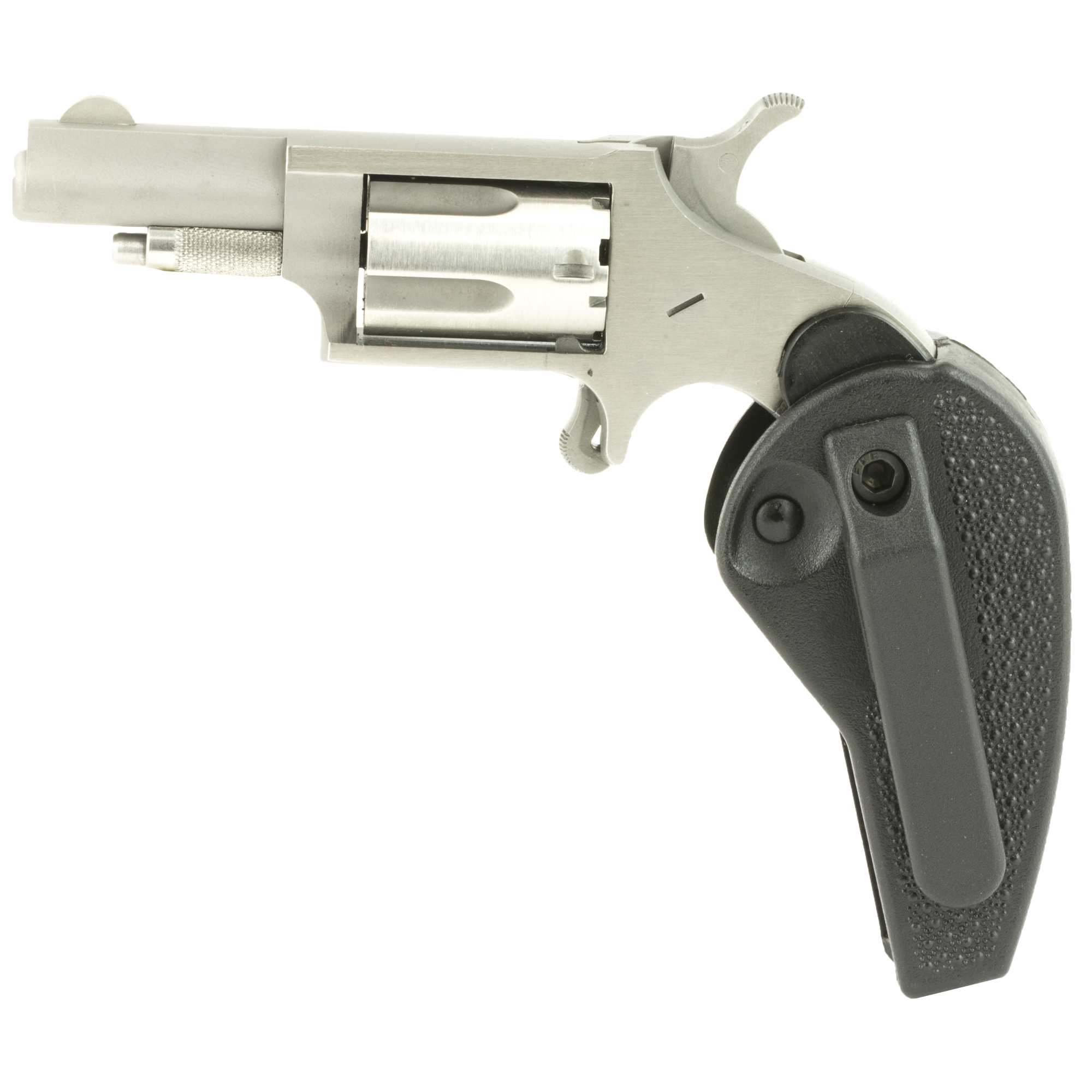 "The NAA .22 Long Rifle is the most popular Mini-Revolver ever produced. With the many current accessories"" it is versatile for many applications and is the standard by which other Mini-Revolvers are judged. They offer their .22 Long Rifle Mini-Revolver in both a 1 & 1/8"" Barrel and a 1 & 5/8"" Barrel configuration. The NAA .22 Long Rifle with the 1 & 5/8"" Barrel makes a great addition to the NAA Mini-Revolver line. The NAA .22 Long Rifle with the 1 & 5/8"" barrel is also offered in their Holster Grip configuration which allows for convenient carrying and operation. The grip folds up to allow for easy concealment and carry and folds out into a locked grip for more convenient use and control. It is versatile for many applications and is the standard by which other Mini-Revolvers are judged. 5-Shot capacity."