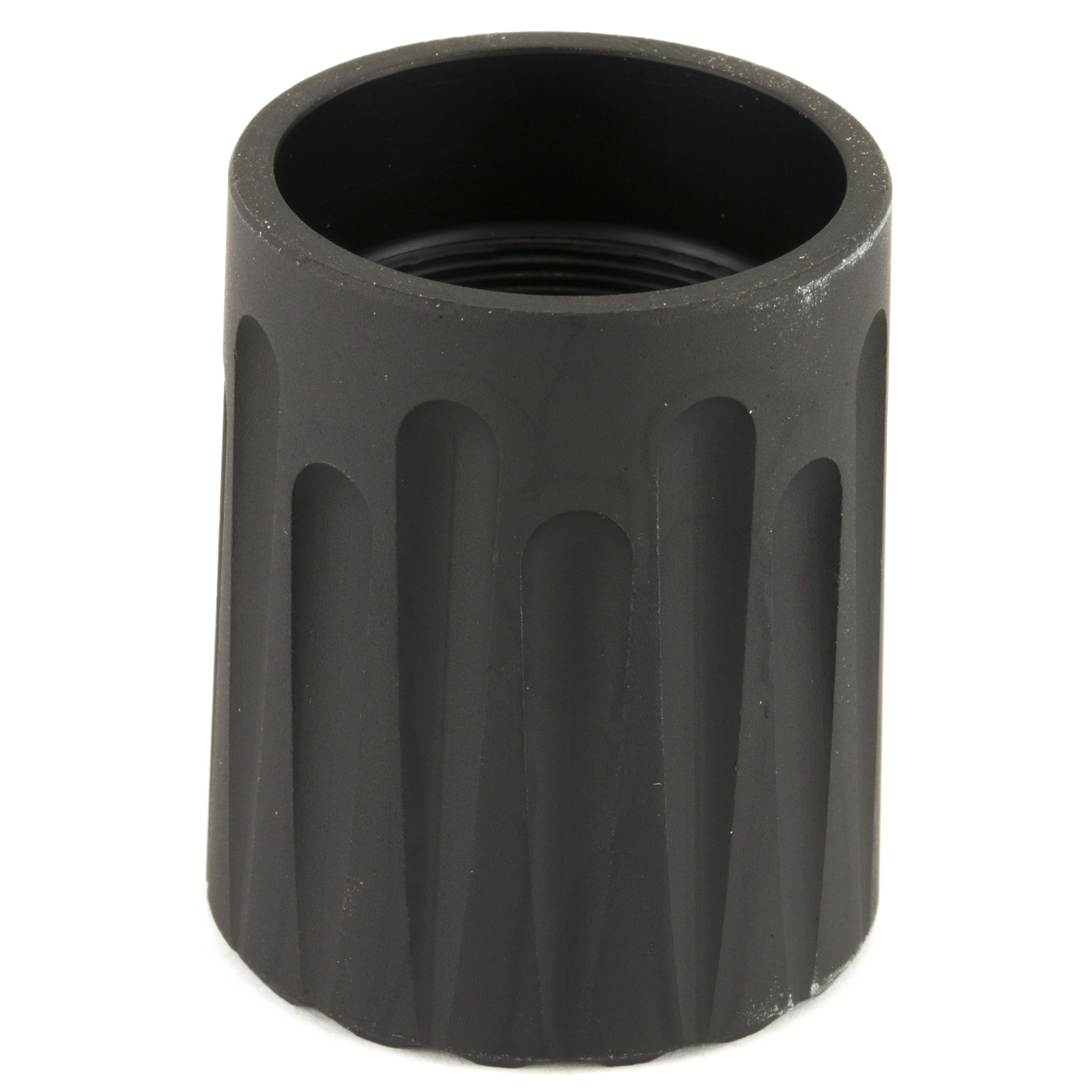 The MXT extension nut allows for installation of a Nordic Components MXT 12ga shotgun extension tube kit. The nut replaces the factory magazine cap and is required for installation of the extension tube kit.