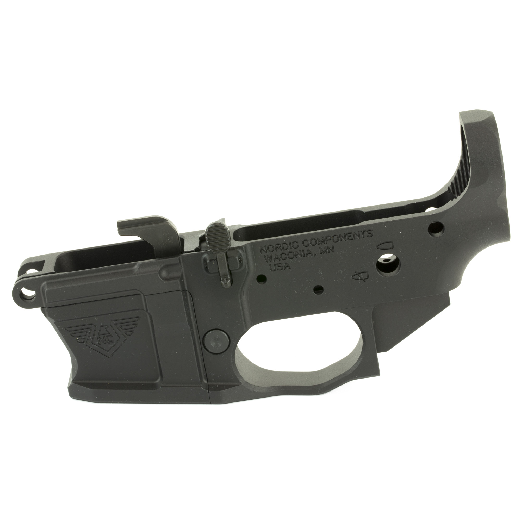 """Now available for the shooter who wants to assemble and configure the NCPCC from the ground up"""" the NCPCC lower receiver assembly includes the receiver"""" one magwell of your choice"""" and all the proprietary components. You will not need bolt catch/plunger/spring and trigger guard. The NCPCC lower receiver is compatible with most standard AR-pattern components and accessories"""" and features the same modularity for which the complete firearm is known."""