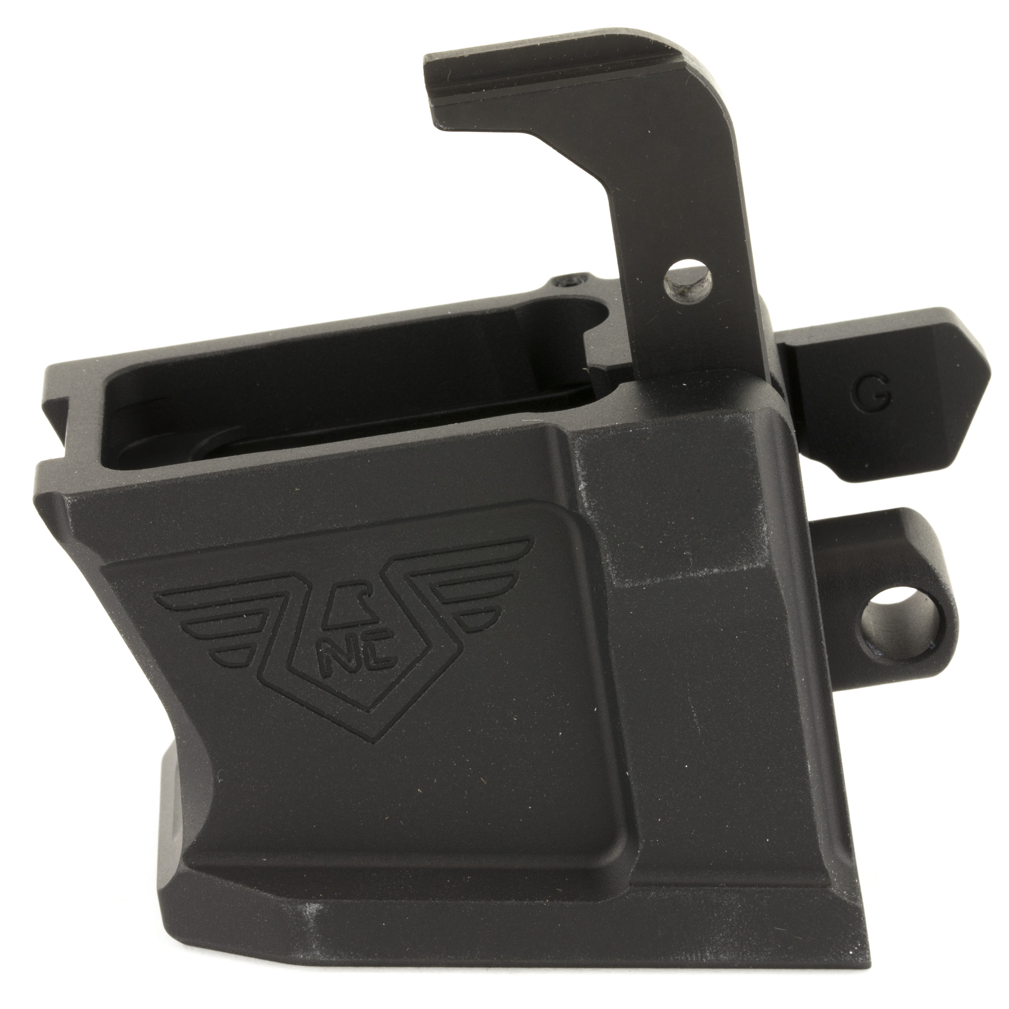 All NC-PCC magwells are cut from 7075 billet and include the necessary magazine release and bolt catch lifter for the respective magazine type. No fitting required - just pull the pin and swap out the magwell.