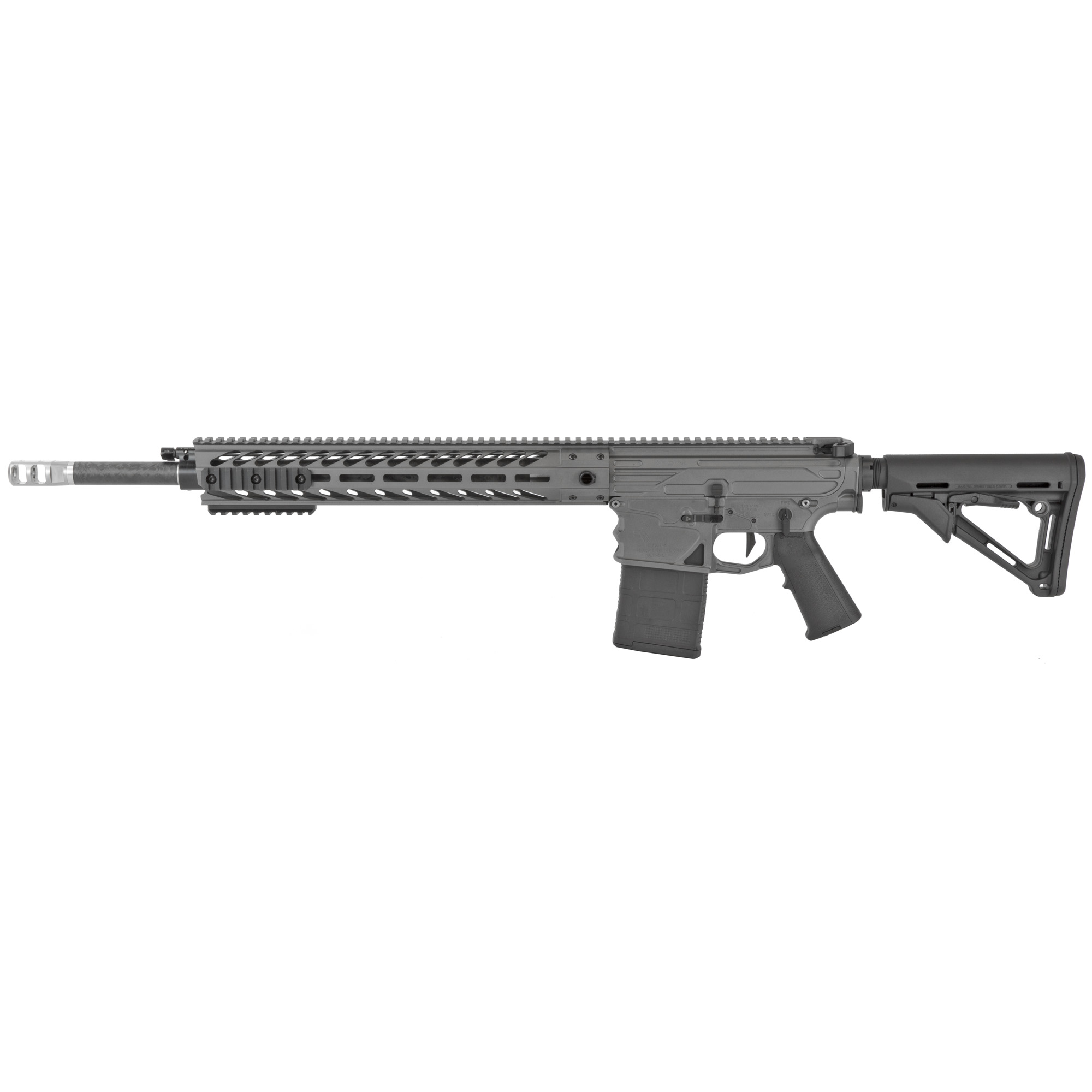 """The Executive Order (XO) is a lightweight"""" accurate"""" hard hitting carbine. Available only with a 20-inch Proof Research barrel"""" you can choose between .308"""" .260 Remington"""" and 6.5 Creedmoor chambering to fit your shooting needs. The longer barrel ensures that you can extract maximum velocity from your projectiles. Ambidextrous controls make operating the XO a cinch for any shooter."""