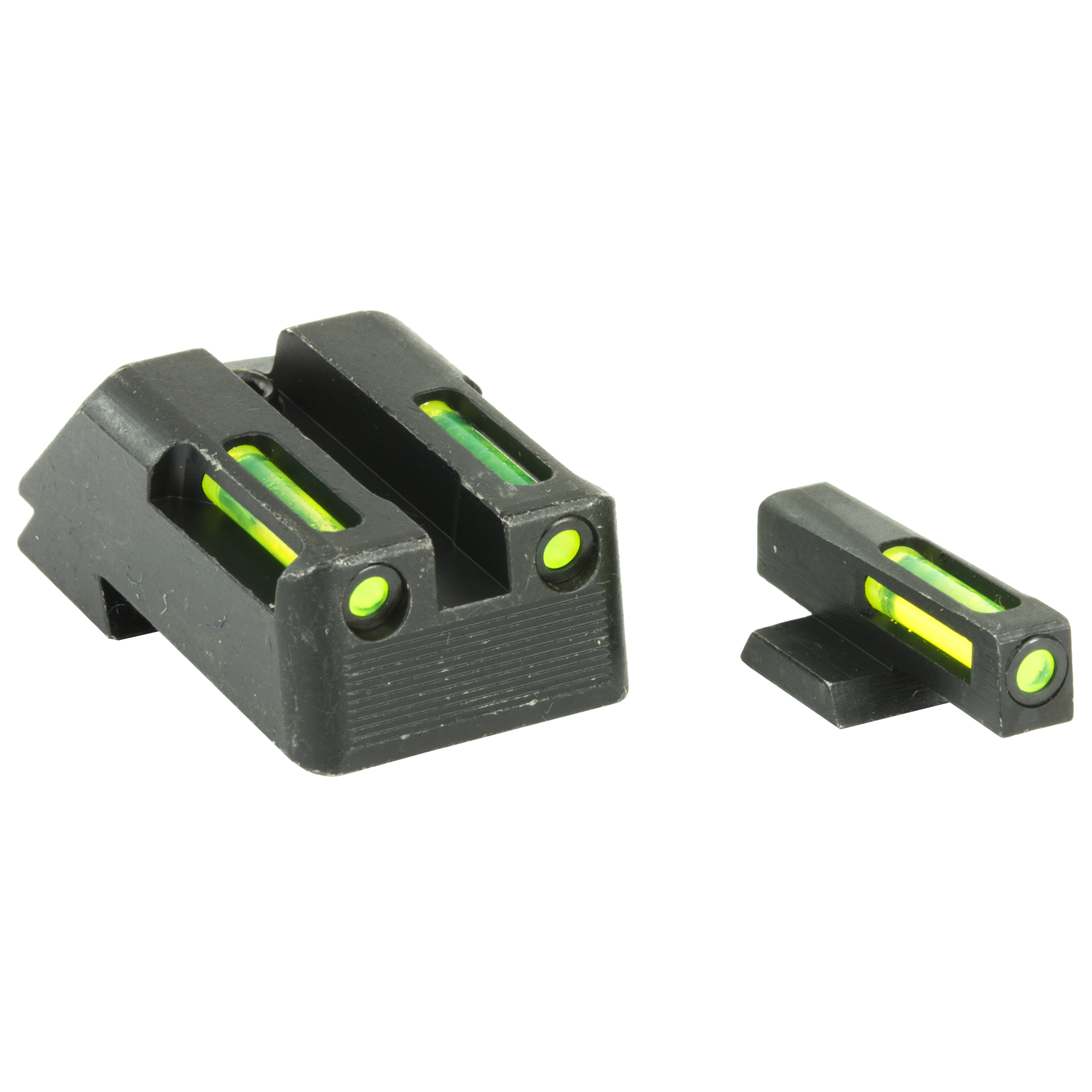 HIVIZ(R) LiteWave H3 sight combines Tritium with our LitePipes technology for day/night performance with 24 hour illumination. Front and rear sight are green. 12 year Tritium warranty. Fits 1911 models with fixed rear sight; does not fit Micro.