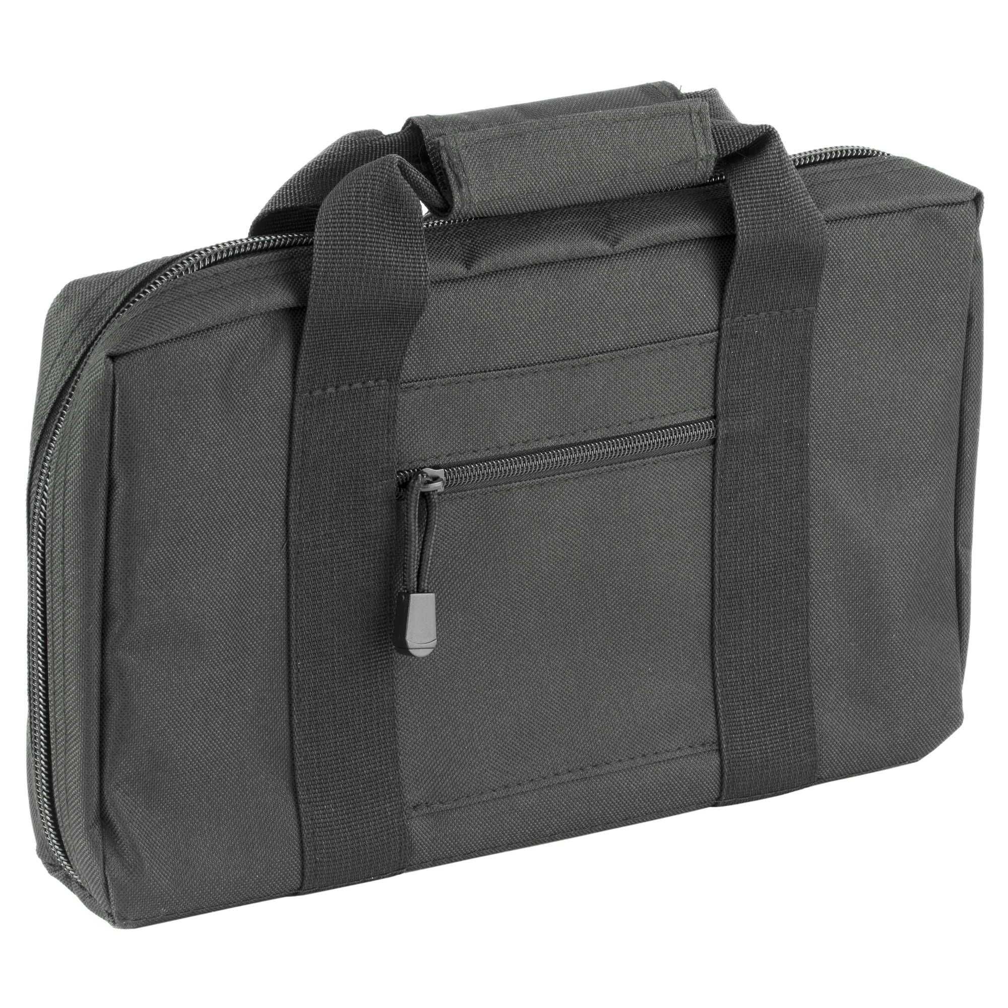 The VISM Discreet Pistol Case features 2 separate padded compartments to accommodate 1 full size handgun each. Six elastic loops accommodate up to 6 double stack magazines or 12 single stack magazines.