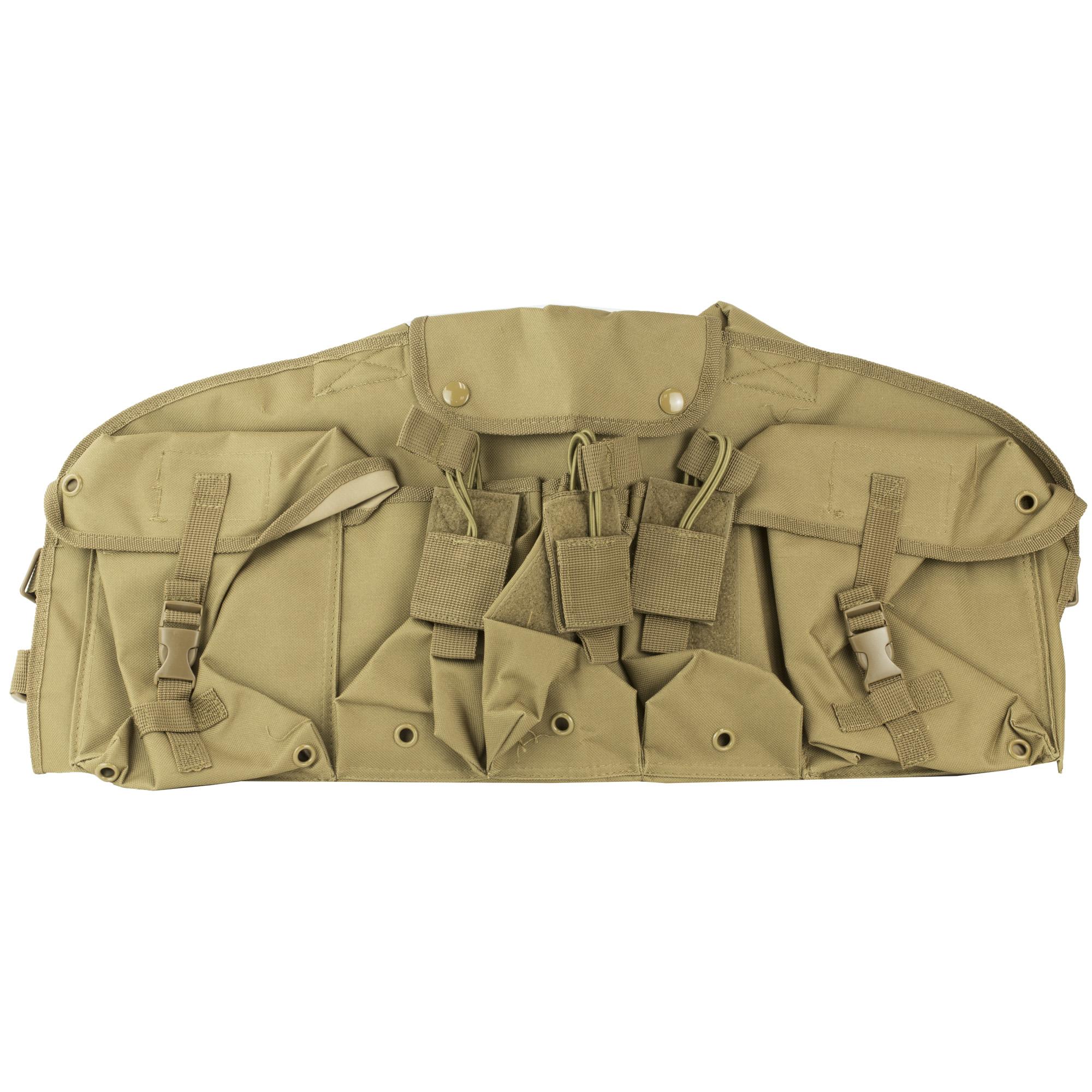NCSTAR (6) Magazines AK Chest Rig Ambidextrous Nylon Vest – Tan