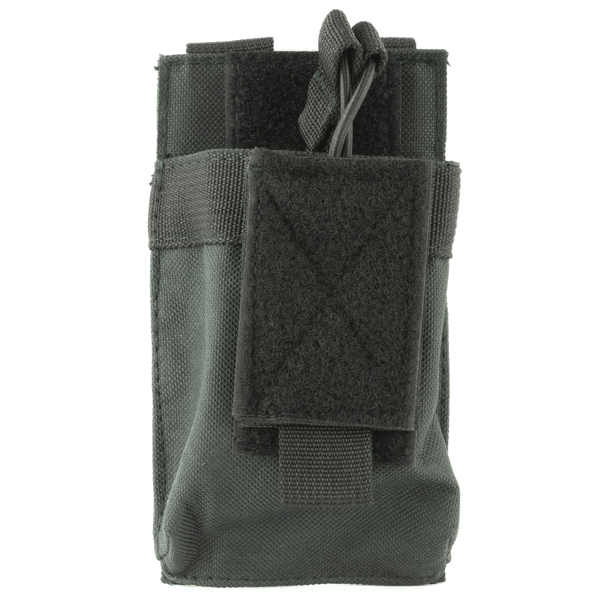 "This single AR magazine pouch holds virtually any 5.56/223"" or 7.62X39 double stack magazine. Adjustable Bungee Style Retention Straps make Access to your Magazines easy while securely holding them in place."