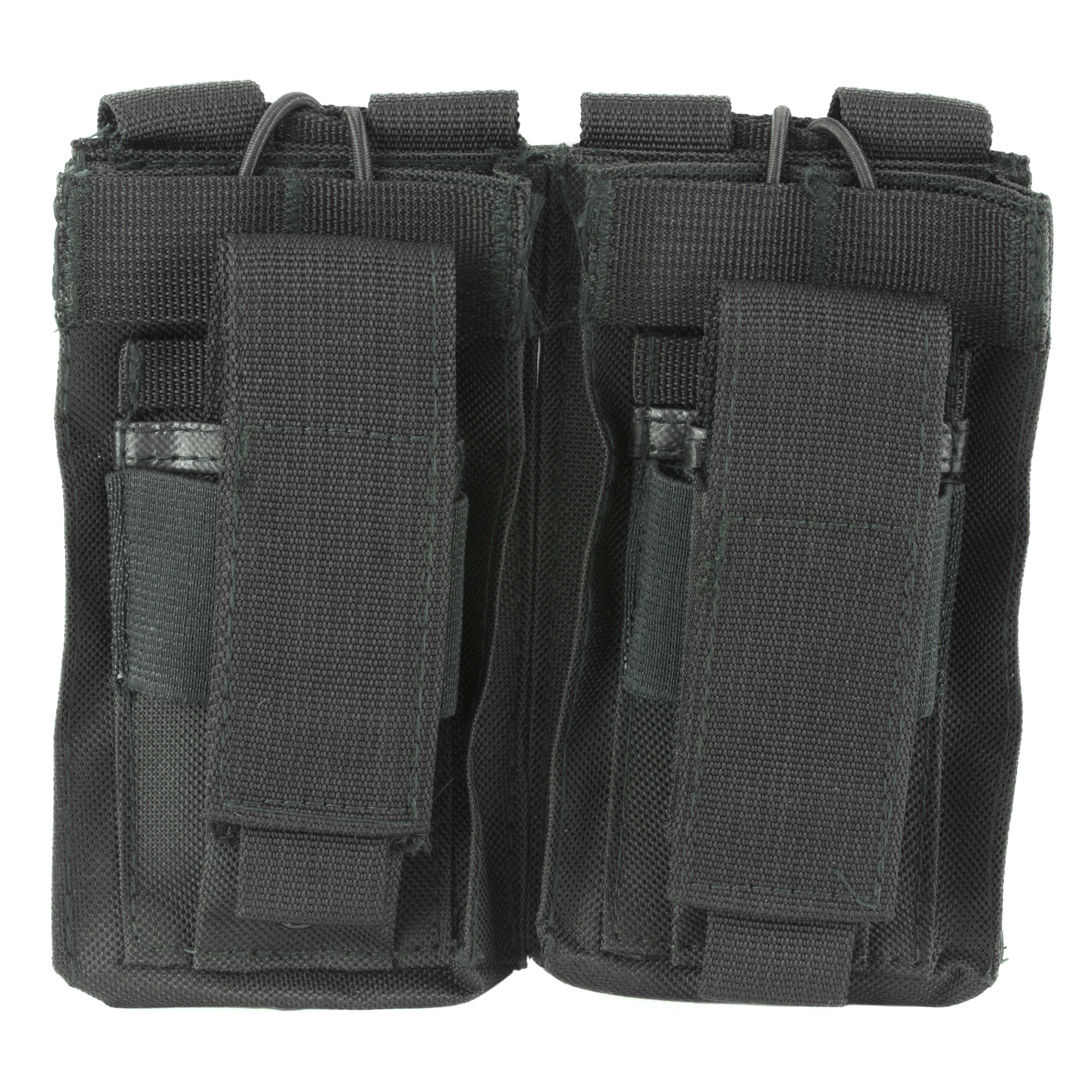 This double AR magazine pouch holds two AR style 5.56/223 or 7.62x39 magazines. Adjustable Bungee Style Retention Straps make Access to your Magazines easy while securely holding them in place.