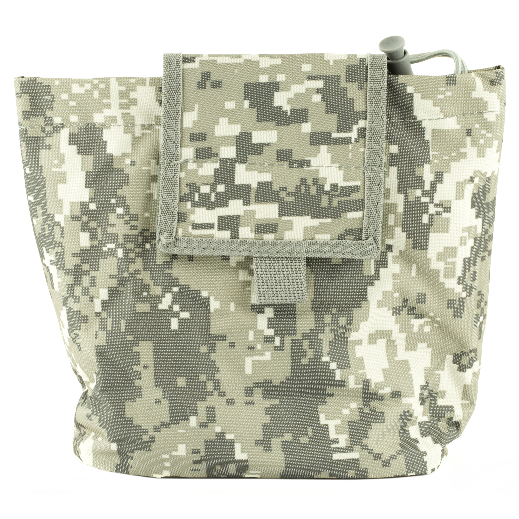 "The New VISM Folding Dump Pouch allows you to quickly store your Shooting Gear into a convenient pouch when you need it. The Dump Pouch folds flat into a compact size when not in use. Size Folded: 5""L X 5""H X 11/4""W. The Dump Pouch unfolds into a large pouch"" able to hold 7 AR or AK 30 round magazines. Size Opened: 71/2""L X 81/2""H X 31/2""W"