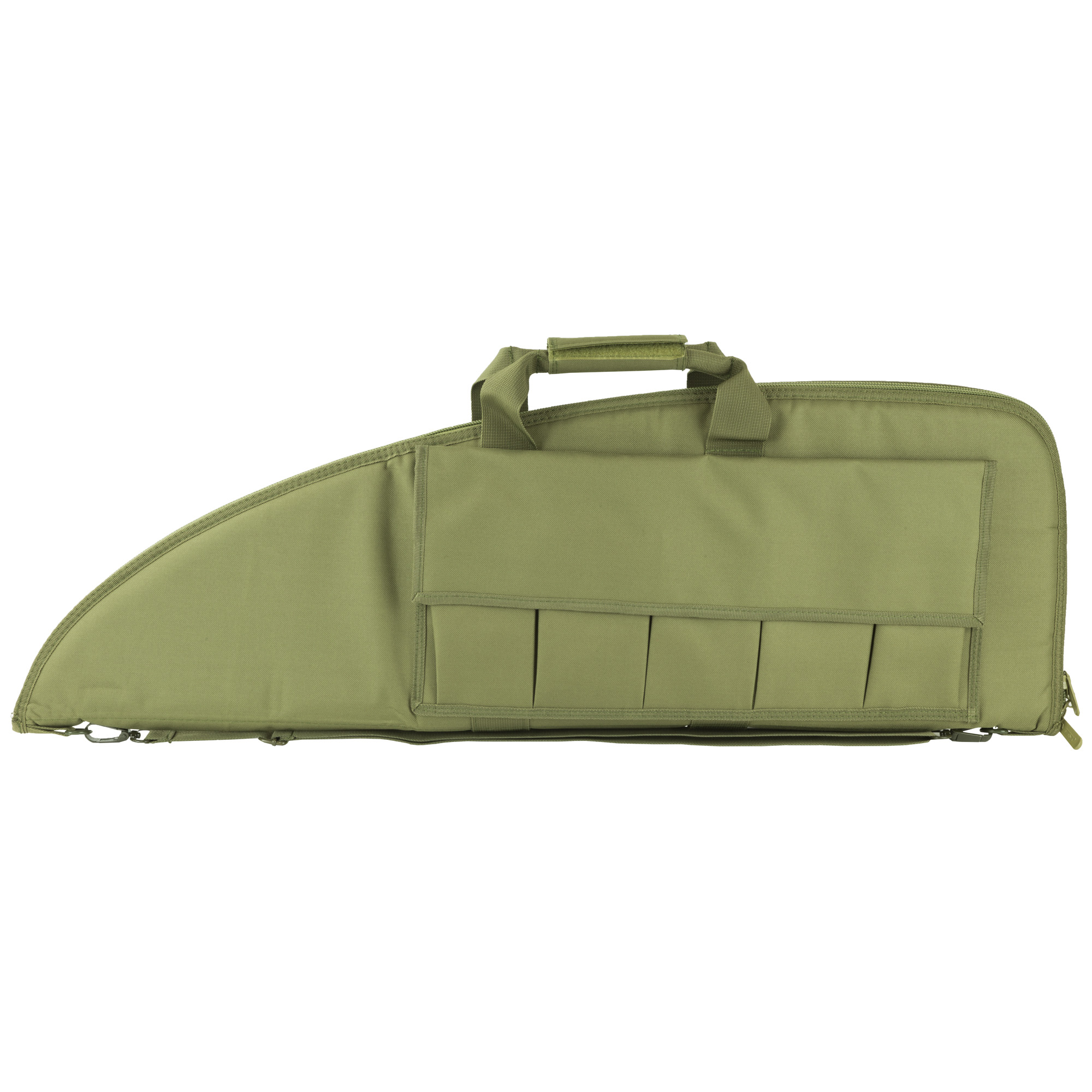 The VISM Gun Case has high density foam inner padding for superior protection and heavy duty metal double zippers.