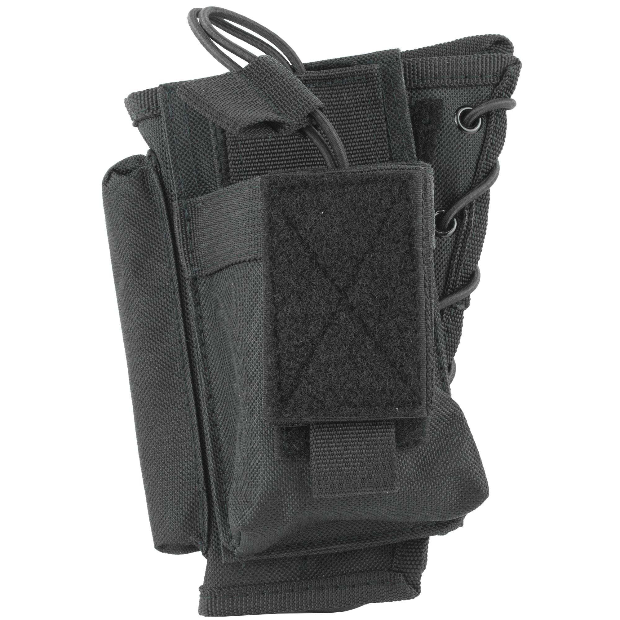 This stock riser with magazine pouch fits most rifles. Holds all AR and AK mags.
