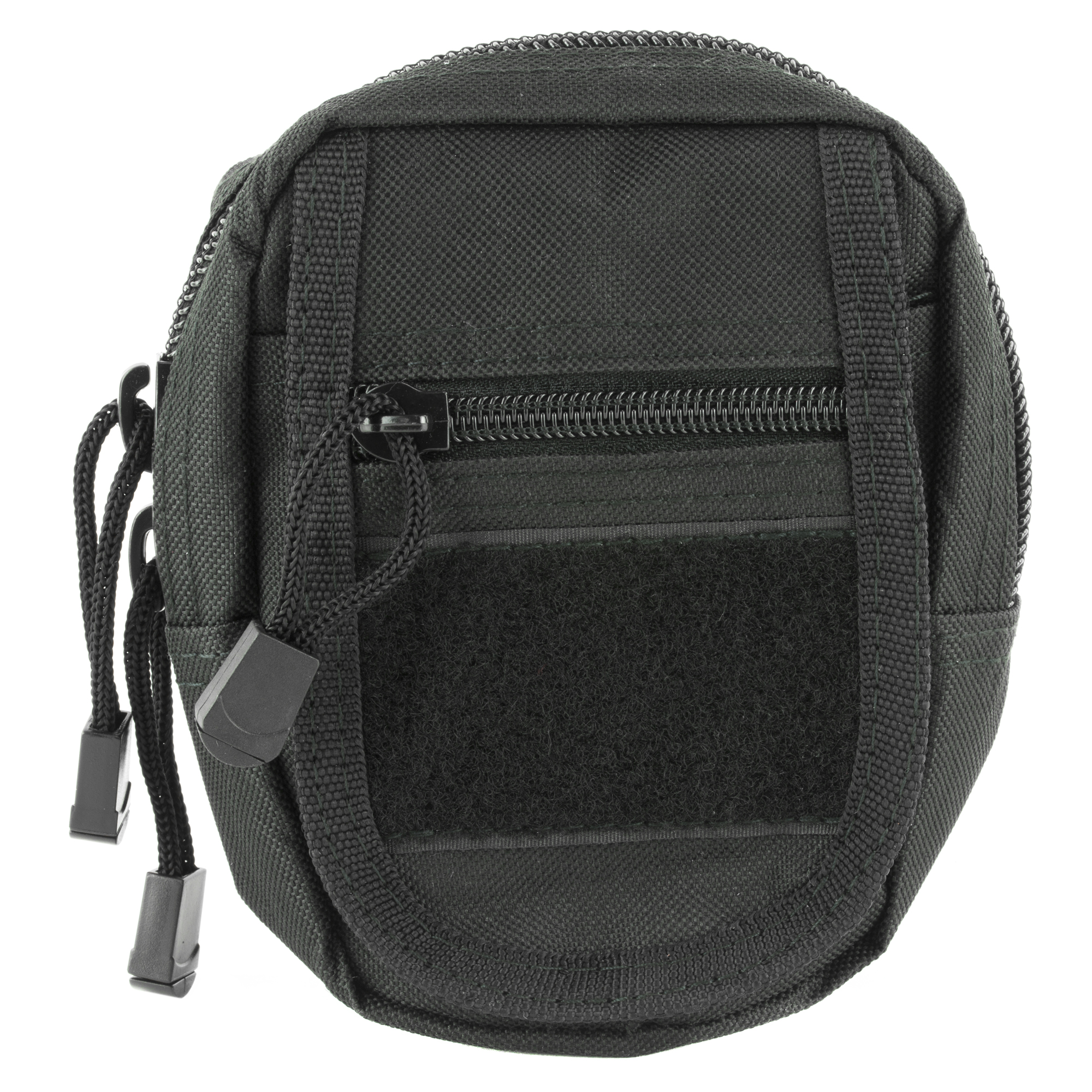 "The NcSTAR Small Utility Pouch is an excellent way to carry your cell phone"" cameras"" medical supplies"" and other small objects. This dump pouch is made of heavy duty PVC/Nylon material with PALS attachment to nearly any MOLLE or PALS system. It features one main zippered compartment"" one front zippered compartment"" and one quick-flap hook and loop compartment. The small size is perfect for storing cell phones"" GPS devices"" cameras"" medical supplies"" flashlights"" and small tools"" or anything else you need to be readily accessible."