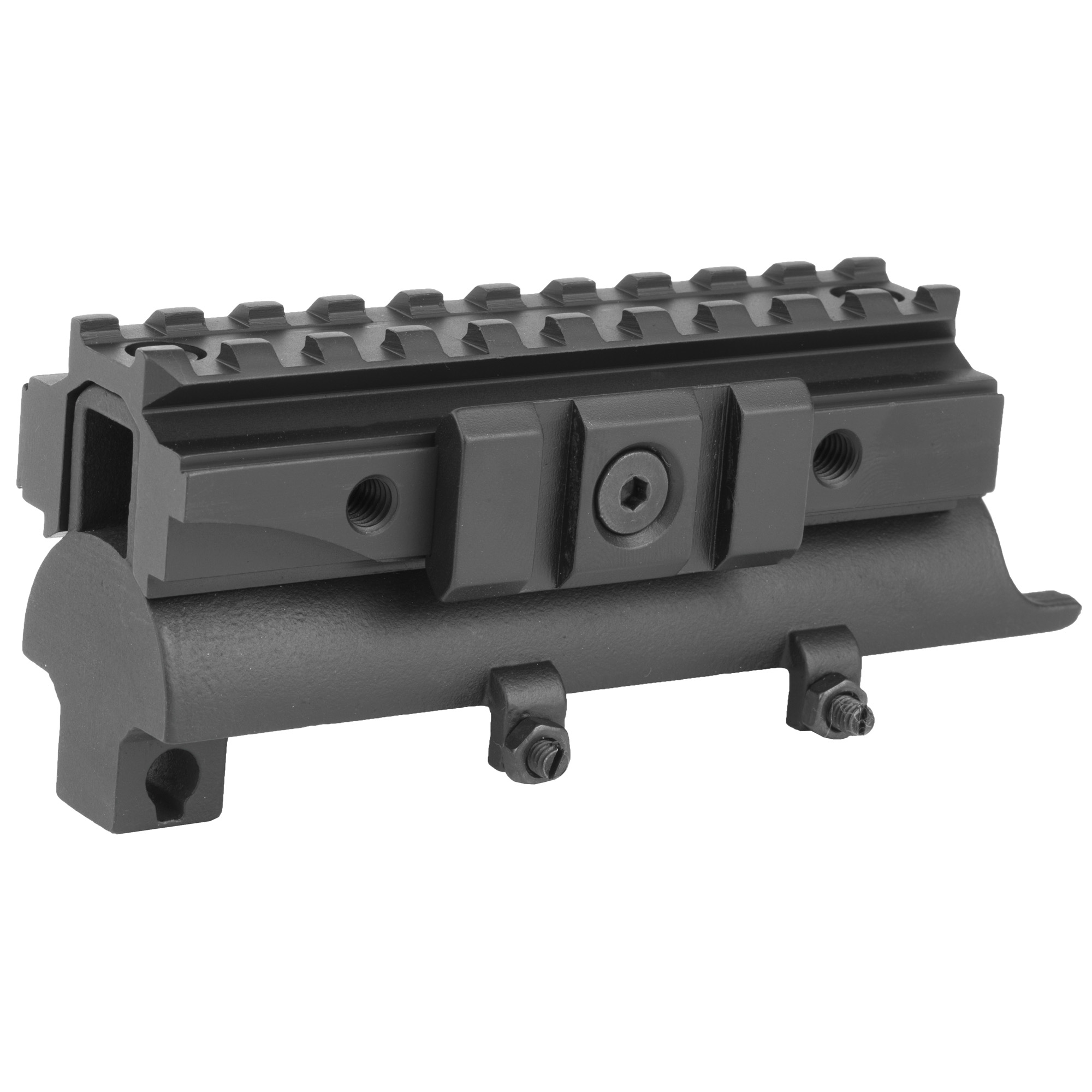 SKS tri-rail receiver cover for mounting optics and accessories.