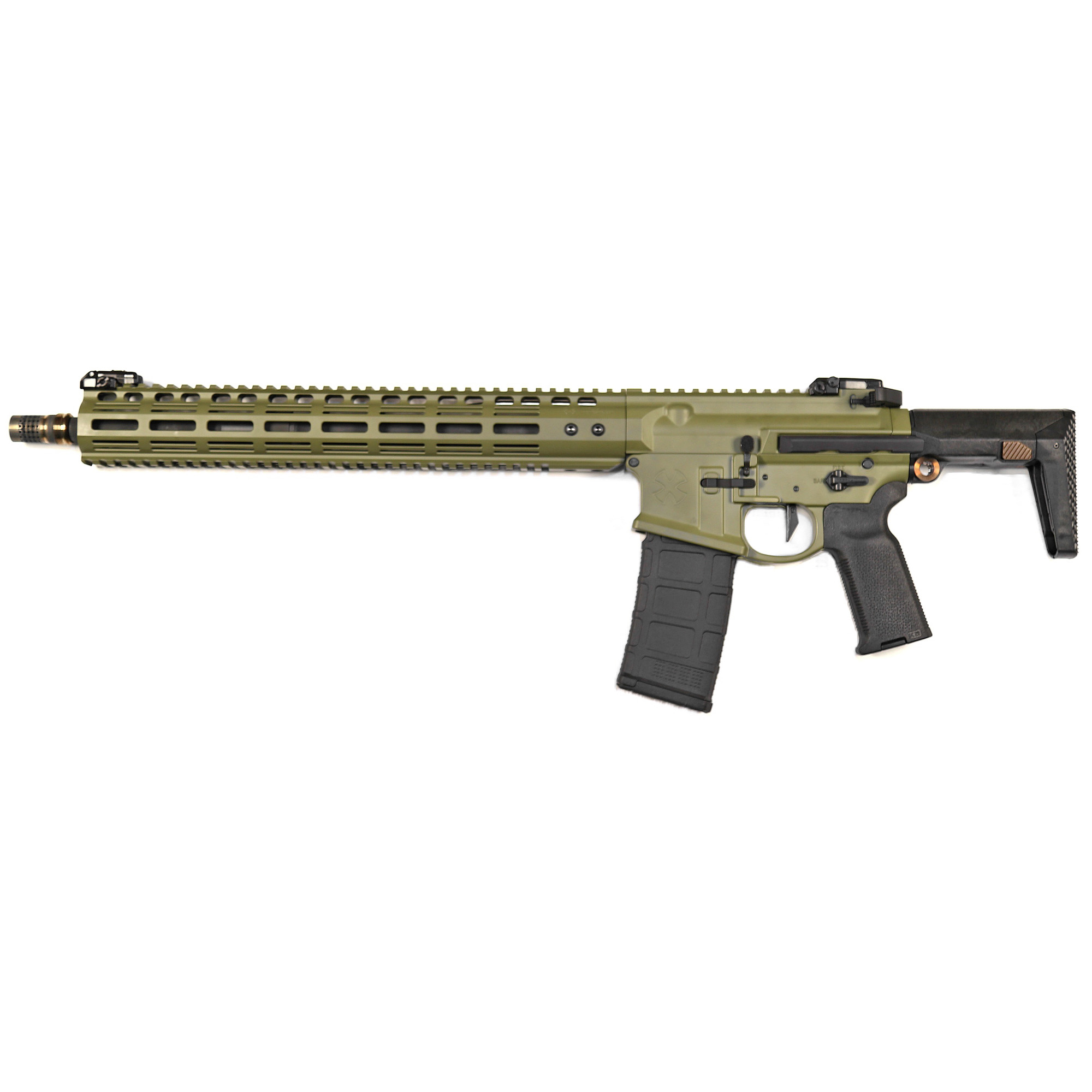 This rifle features a Gen 4 precision machined billet upper receiver with extended feed ramp and anti-rotation interface with the handguard. The Gen 4 lower has ambidextrous controls and a Geissele SD-E trigger.