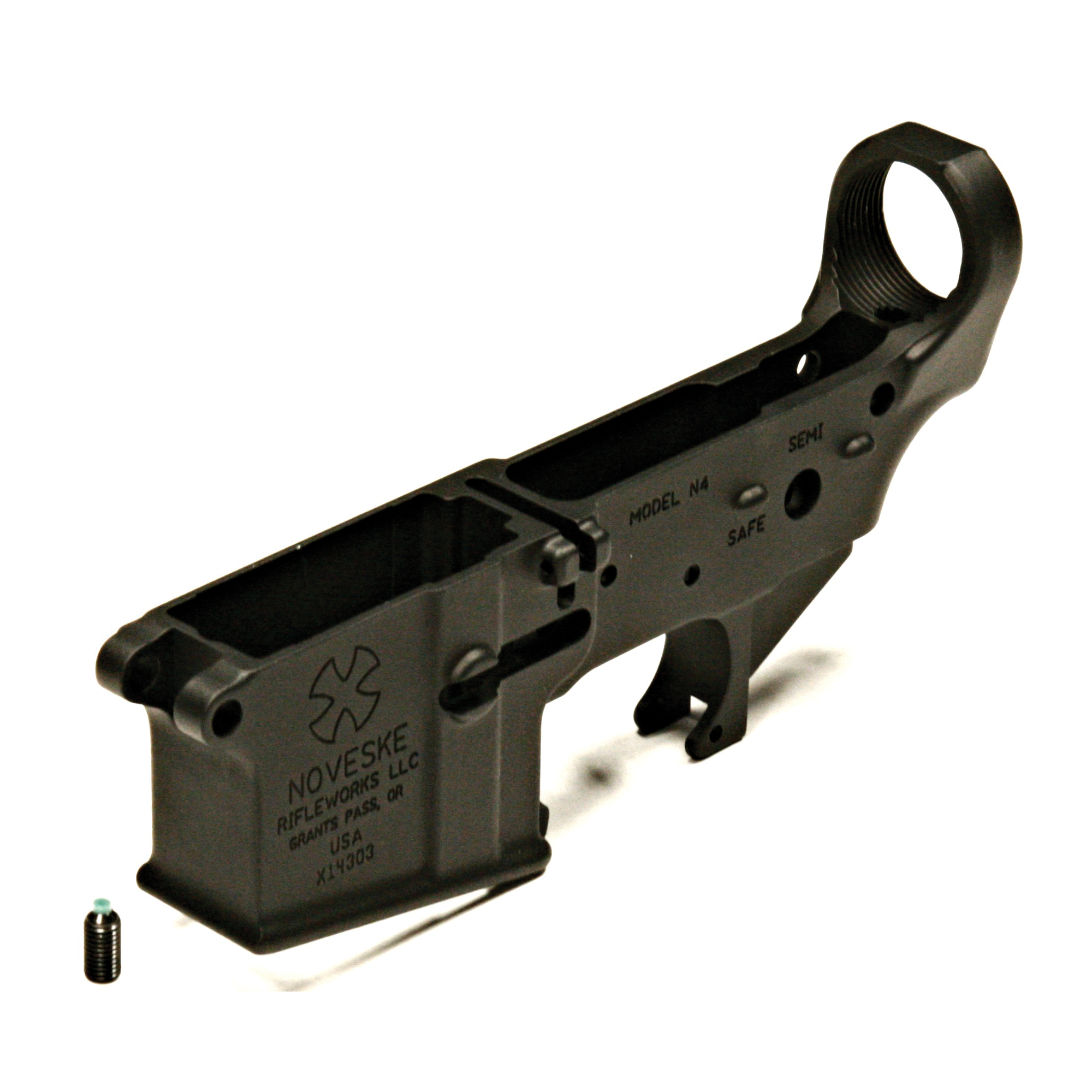 The Noveske Gen1 lower receiver is constructed of forged aluminum. It is compatible with all Mil-Spec AR-15 parts and accessories and is precision machined and finished by hand.