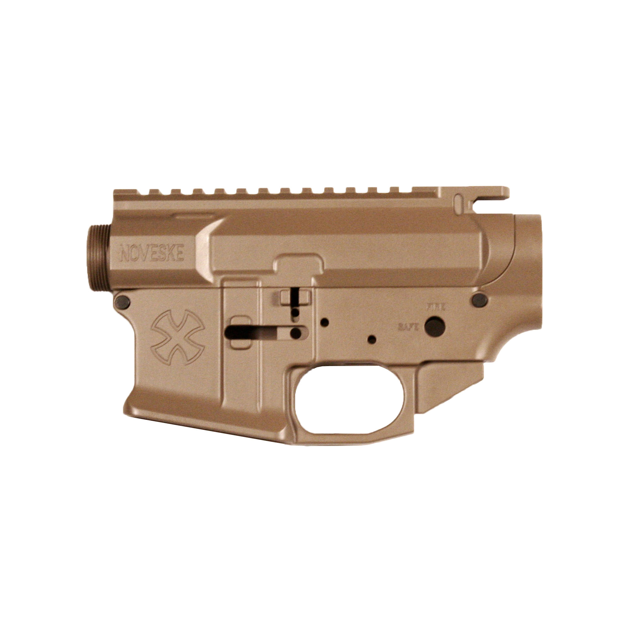 The Noveske Gen3 matched set is machined from billet aluminum and compatible with all Mil-Spec AR-15 parts and accessories. Includes Noveske marked takedown/pivot pins.