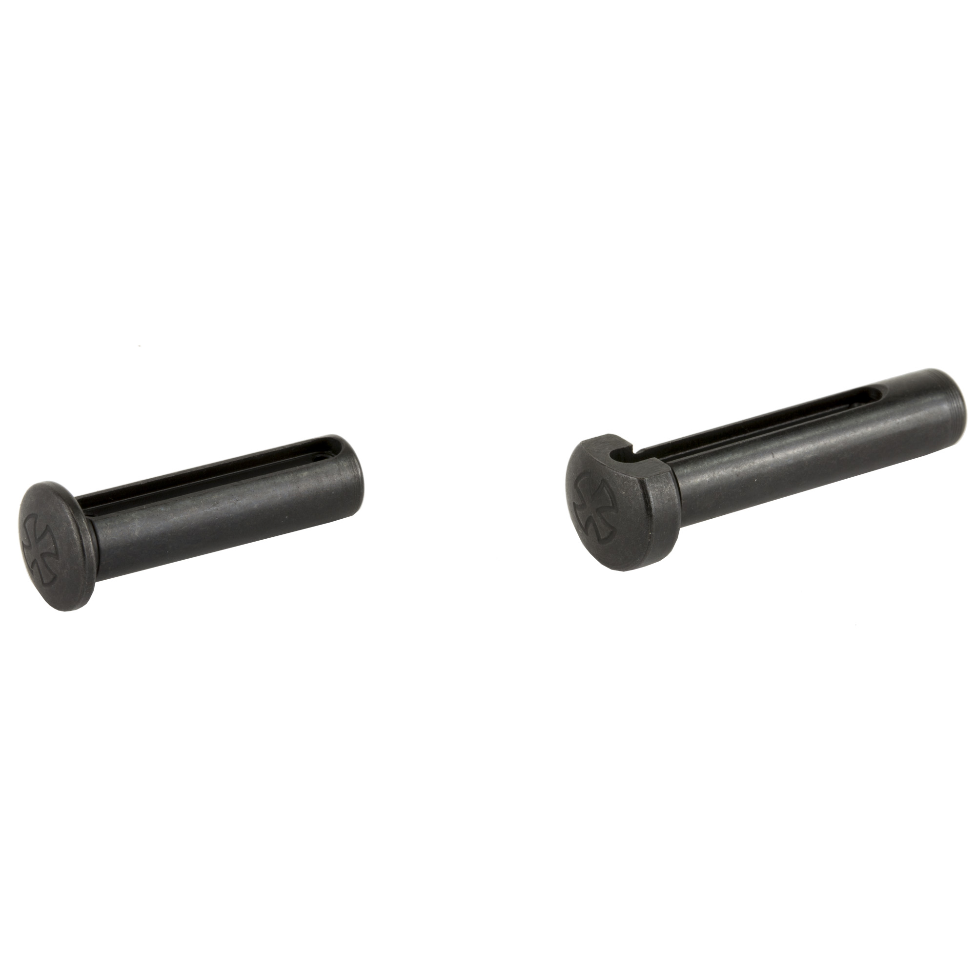 These steel pins with nitride finish are a direct replacement for the factory rear takedown and front pivot pin on your AR-15.