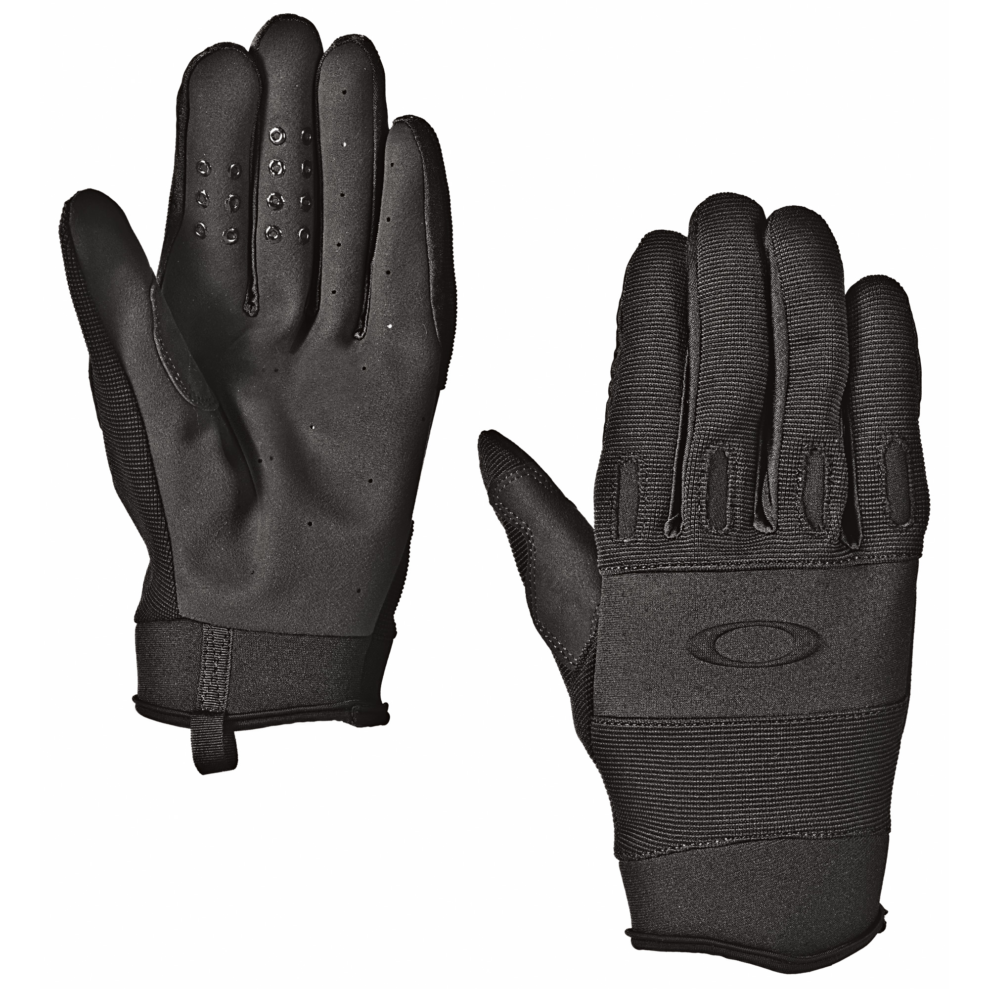 "The Oakley SI Lightweight glove is mission-specific gear"" designed for operations that require low weight with proven performance. Breathability is essential for warmer climates"" so this glove combines span nylon with Airprene for maximum comfort. AX suede maintains dexterity at the palms"" and the reinforced trigger finger is removable for easy adaptation. A high-friction pattern on the fingers provides a sure grip."