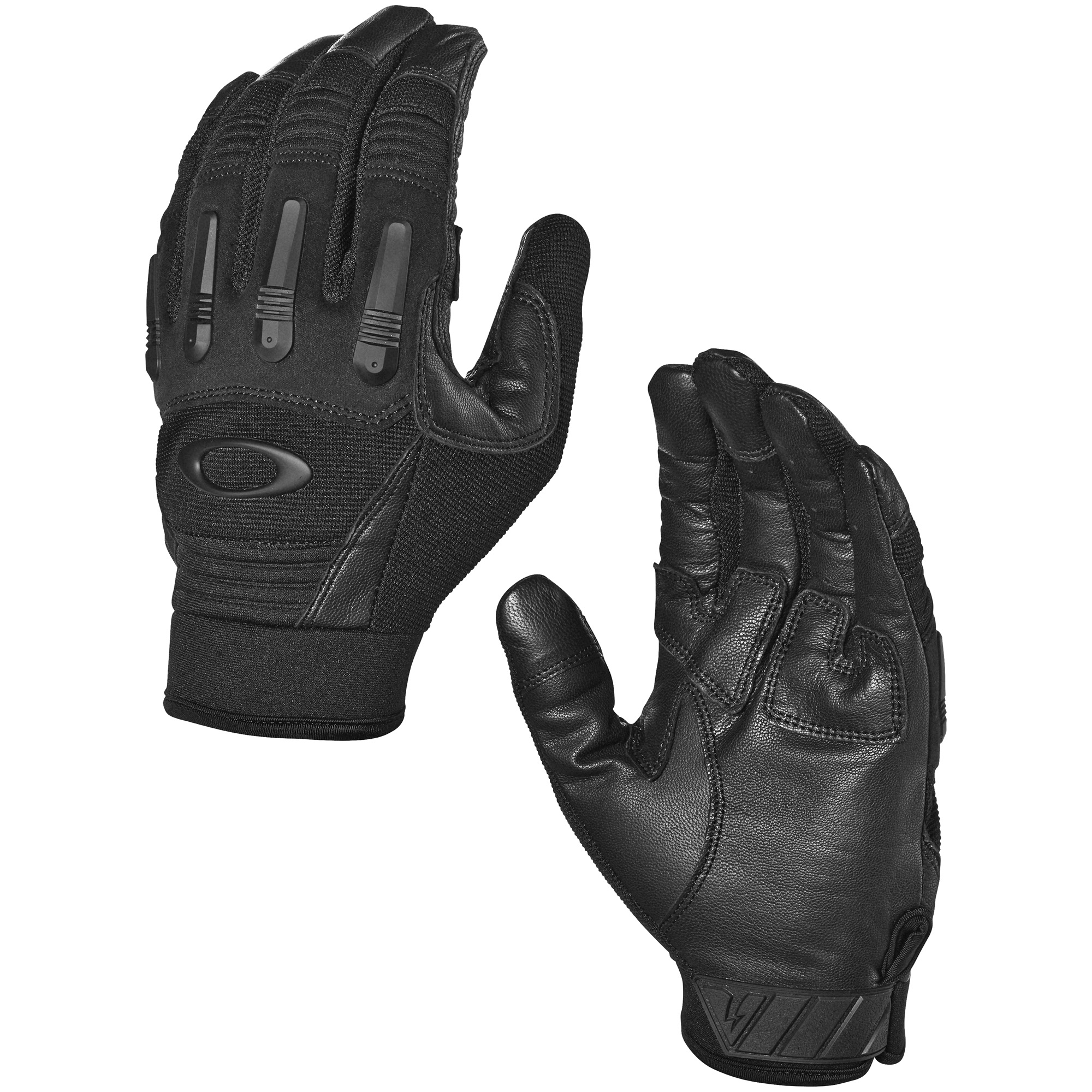 "The rugged and protective Transition Tactical Gloves are built to withstand the rigors of any rough-and-tumble activity. Airprene and lightweight ribspan paneling on these Oakley gloves combine with strategically placed suede and premium knuckle protection to provide comfort"" dexterity a tough barrier between you and heavy-duty equipment that can cause injury."