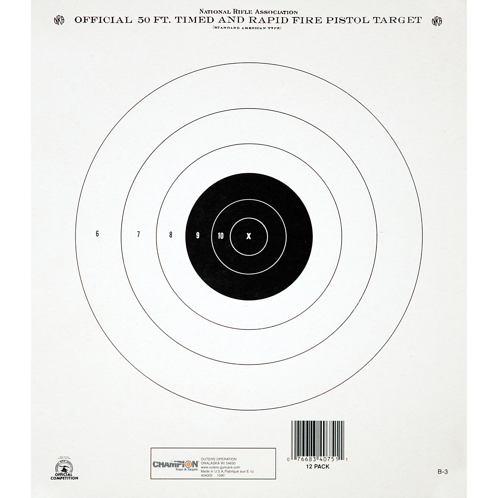 "Looking for a great shooting experience? You've come to the right place. For the best in interactive targets"" the experts at Champion(R) have all your needs covered. From paper to spinners"" clays to silhouettes"" these targets serve today's modern shooter."
