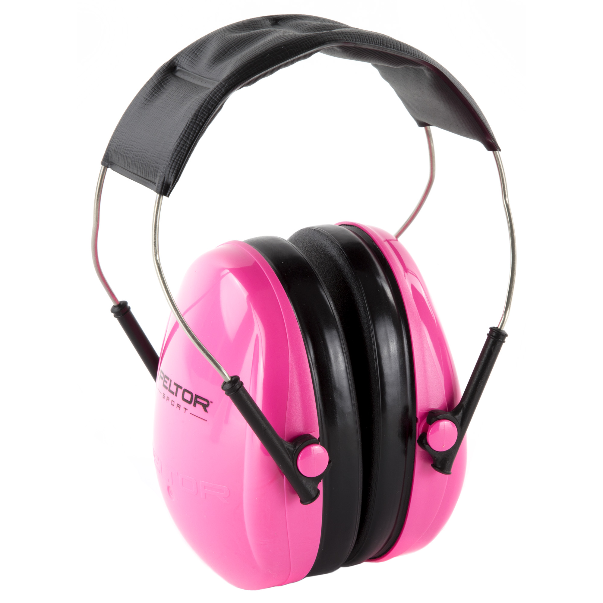 """The Peltor Junior earmuff adjusts to fit a wide variety of sizes"""" from children through small adults. The low profile ear cups are comfortable over extended periods of wear. The padded"""" adjustable headband provides comfort and a custom fit."""
