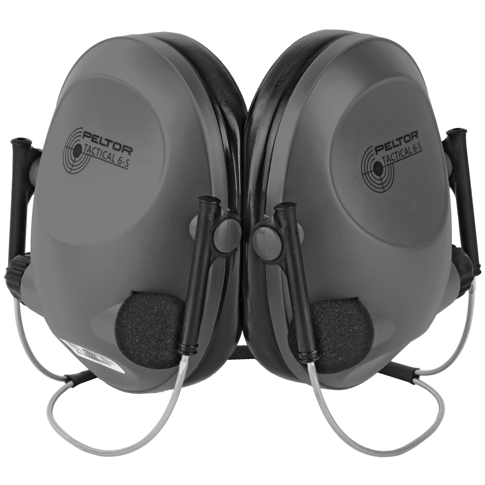 """Peltor is one of the most trusted names in hearing protection and in use by hunters and sportsmen the world over! The Tactical 6S Behind-the-Head features the same 19dB reduction as the standard Tactical 6S with a low profile"""" behind the head wrap that doesn't interfere with hats"""" headgear"""" or helmets. Active sound amplification via dual independent microphones allows the user to hear the quietest sounds around them easily"""" as well as comfortably carry on conversation or hear safety commands while blocking out harmful noise levels."""