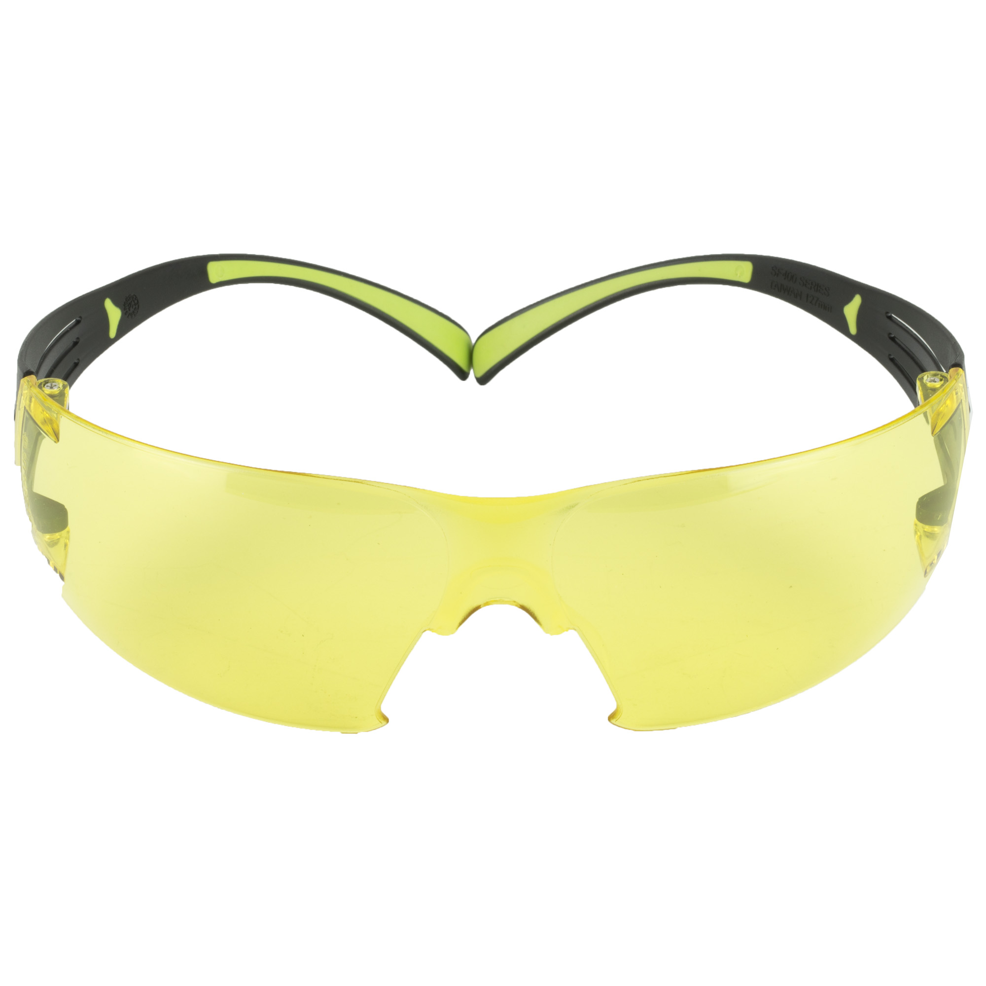 """The SecureFit 400 Series features soft adjustable nose pads"""" dual injected temples"""" and proprietary 3M Pressure Diffusion Temple Technology that helps diffuse pressure over the ear to enhance frame comfort while not compromising the security of fit across a diverse workforce."""