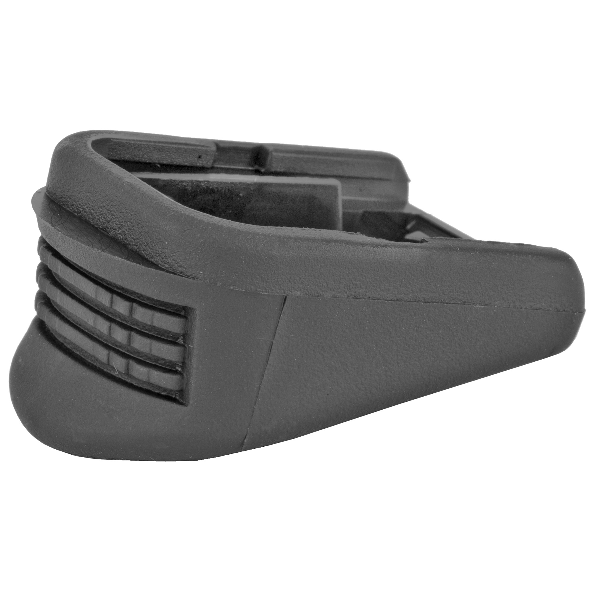 """These units replace the magazine base plate and internal floor plate. They will add two rounds to the Glock M26"""" one round to the Glock M27 and M33 and no rounds to the Glock M39. These units will add 5/8"""" additional length for better control and comfort."""