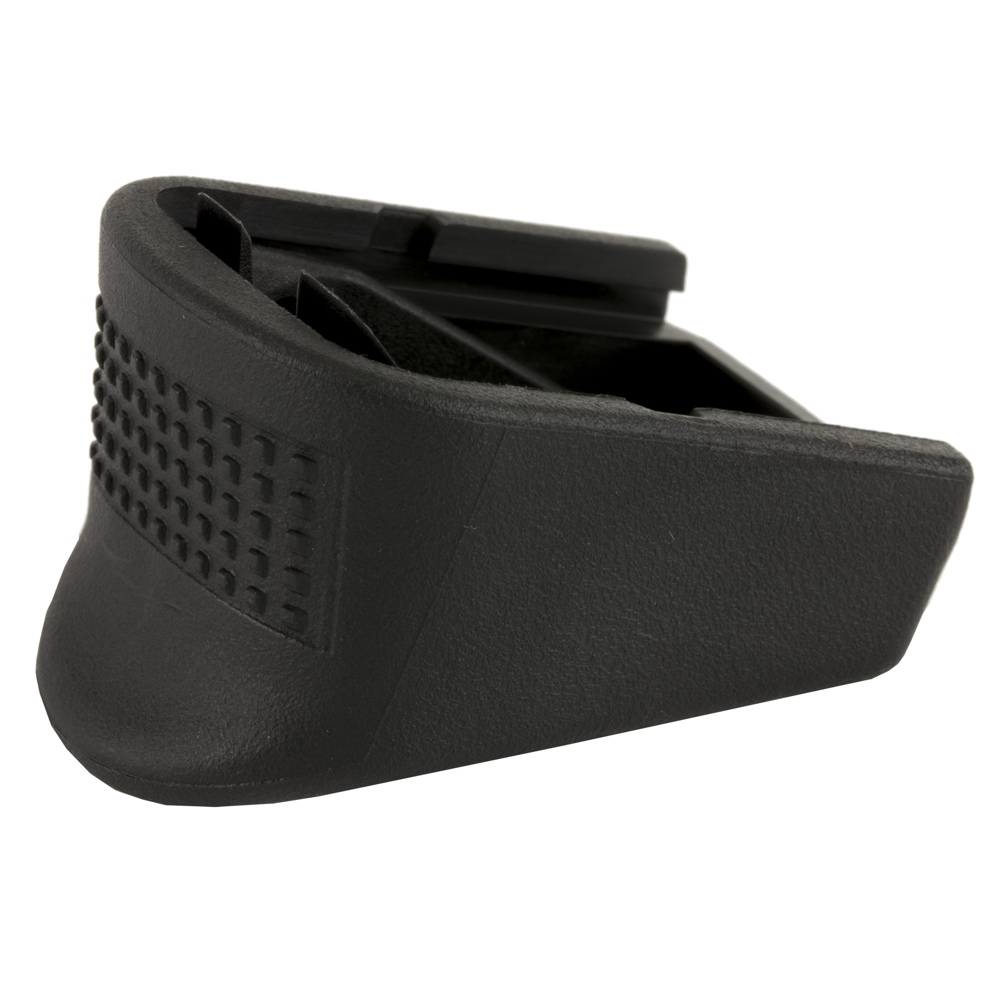 """This extension replaces the magazine floor plate adding two rounds capacity to Glock factory M20""""M21""""M29""""M40 and M41 magazines. This unit is for use on high capacity magazines only"""" it will not work on the 10 round M20 and M21 magazines. Not for use on Glock M30 10 round magazines."""