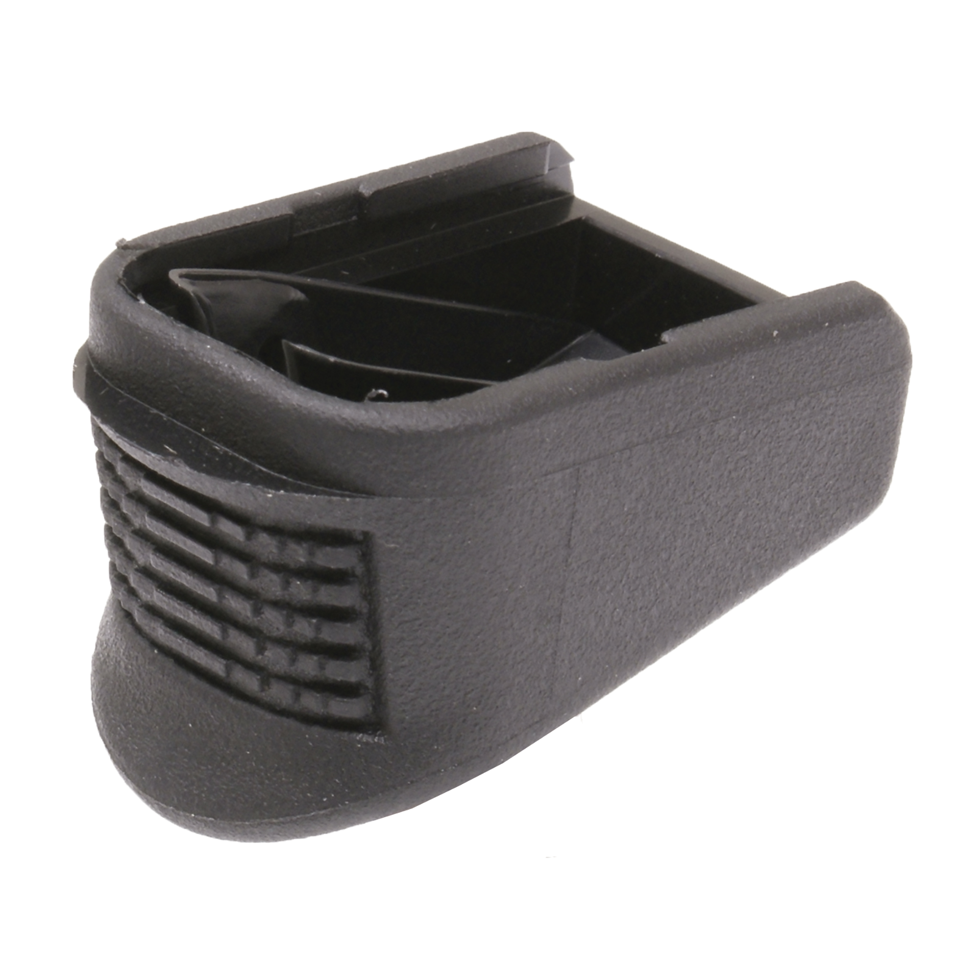 """These units replace the magazine base plate and internal floor plate. They will add three rounds to the Glock M26"""" two rounds to the Glock M27 and M33 and one round to the Glock M39. These extensions will add 1"""" additional length for better control and comfort."""