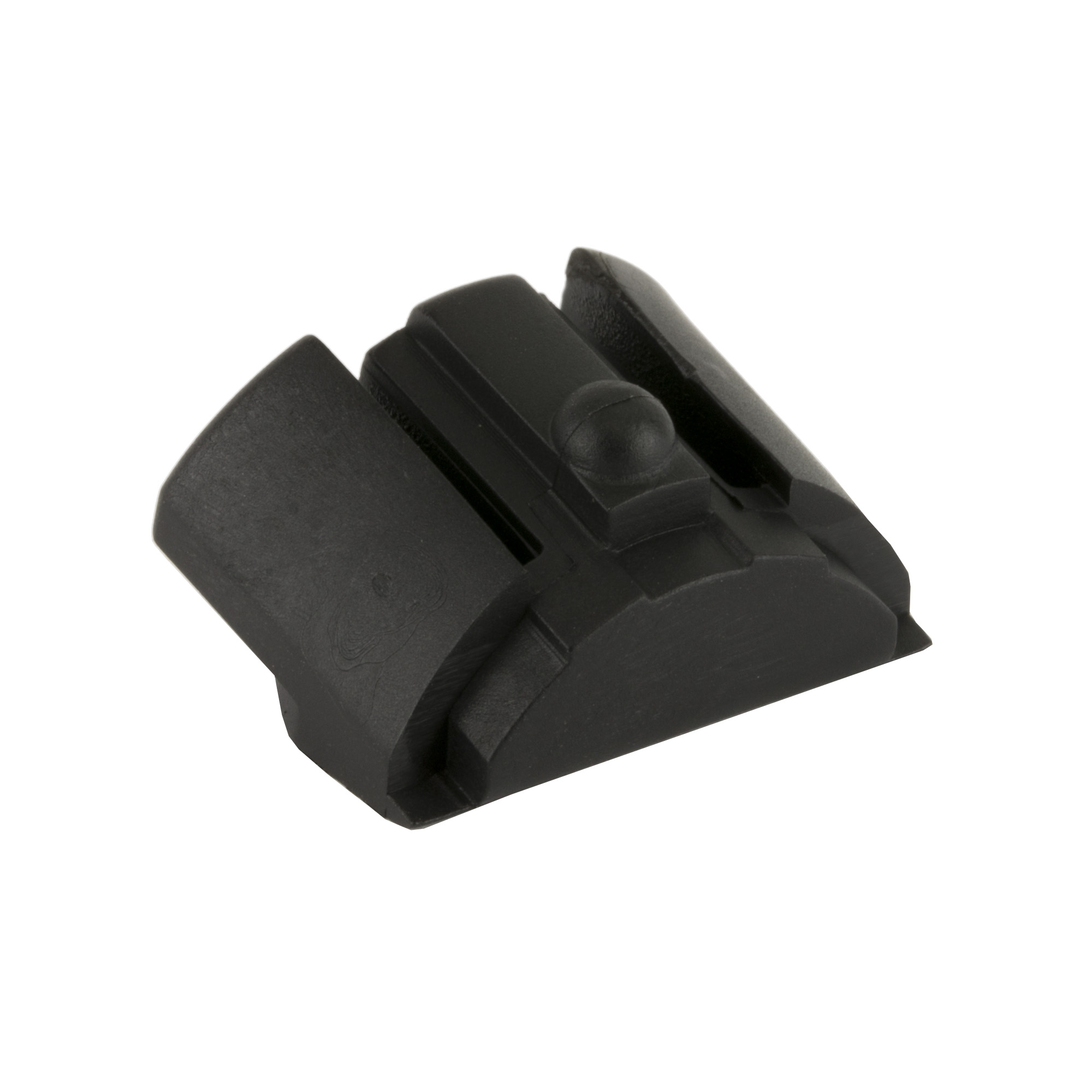 """This unit installs in the bottom rear cavity of the frame utilizing the lanyard hole for retention. Made of a high impact polymer"""" this insert is designed to keep out dust and debris as well as finish off the overall look of the frame. Its design also allows for use with or without the factory interchangeable backstraps."""